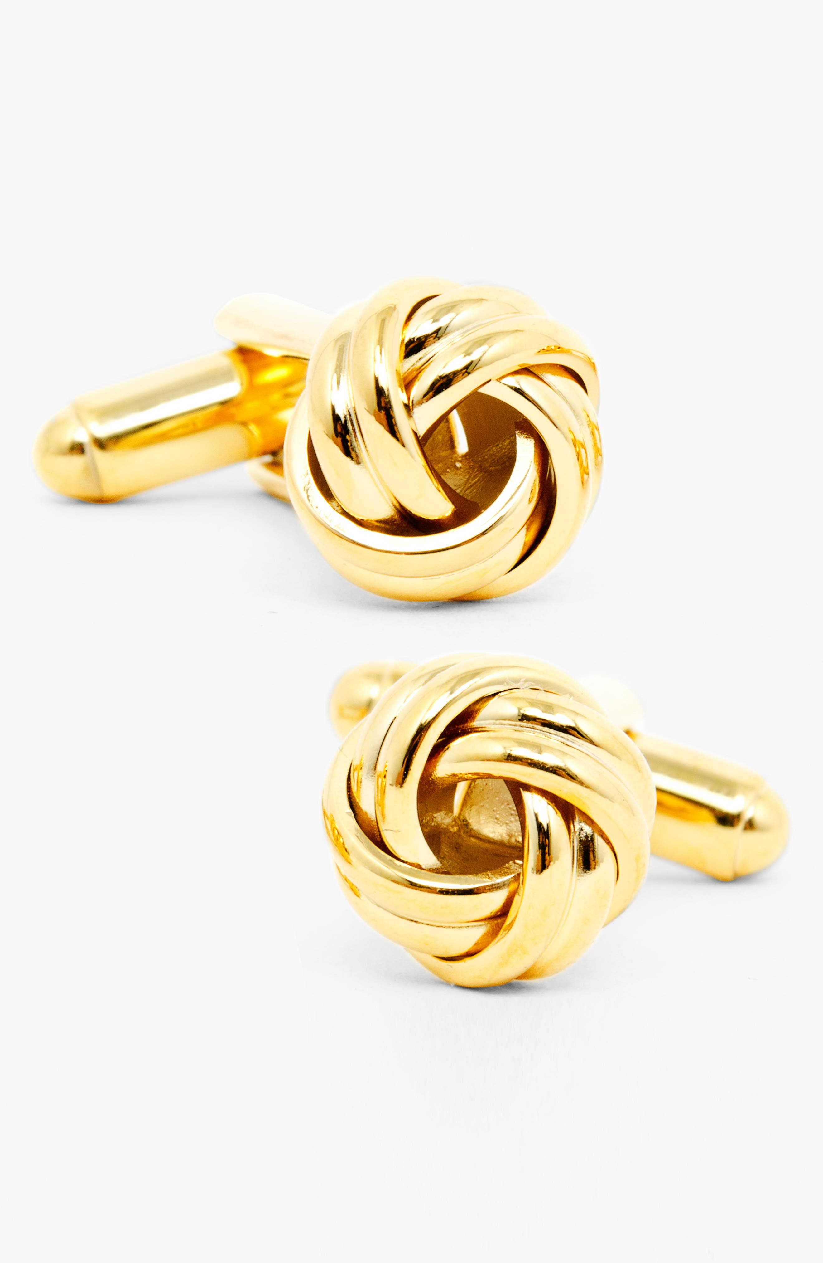 Knot Cuff Links,                             Alternate thumbnail 2, color,                             GOLD