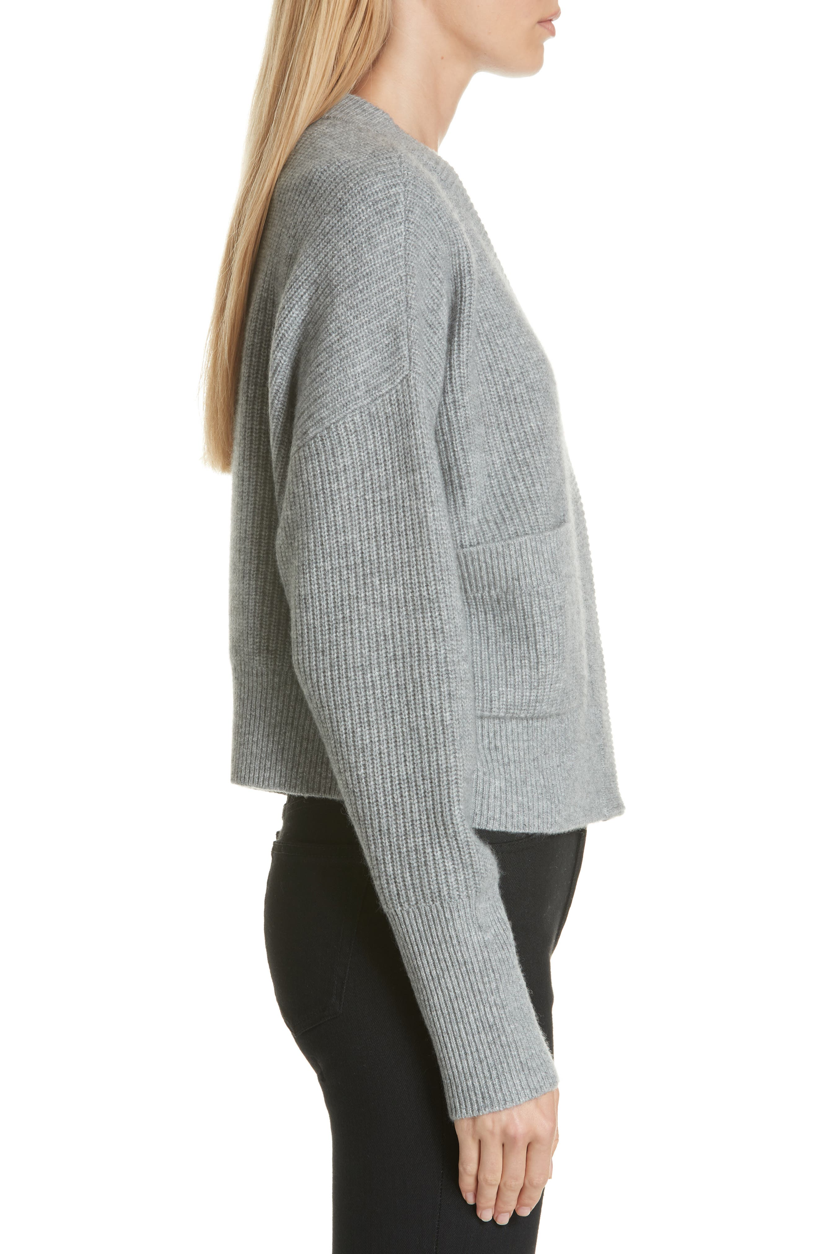 One-Pocket Cashmere Cardigan,                             Alternate thumbnail 3, color,                             030