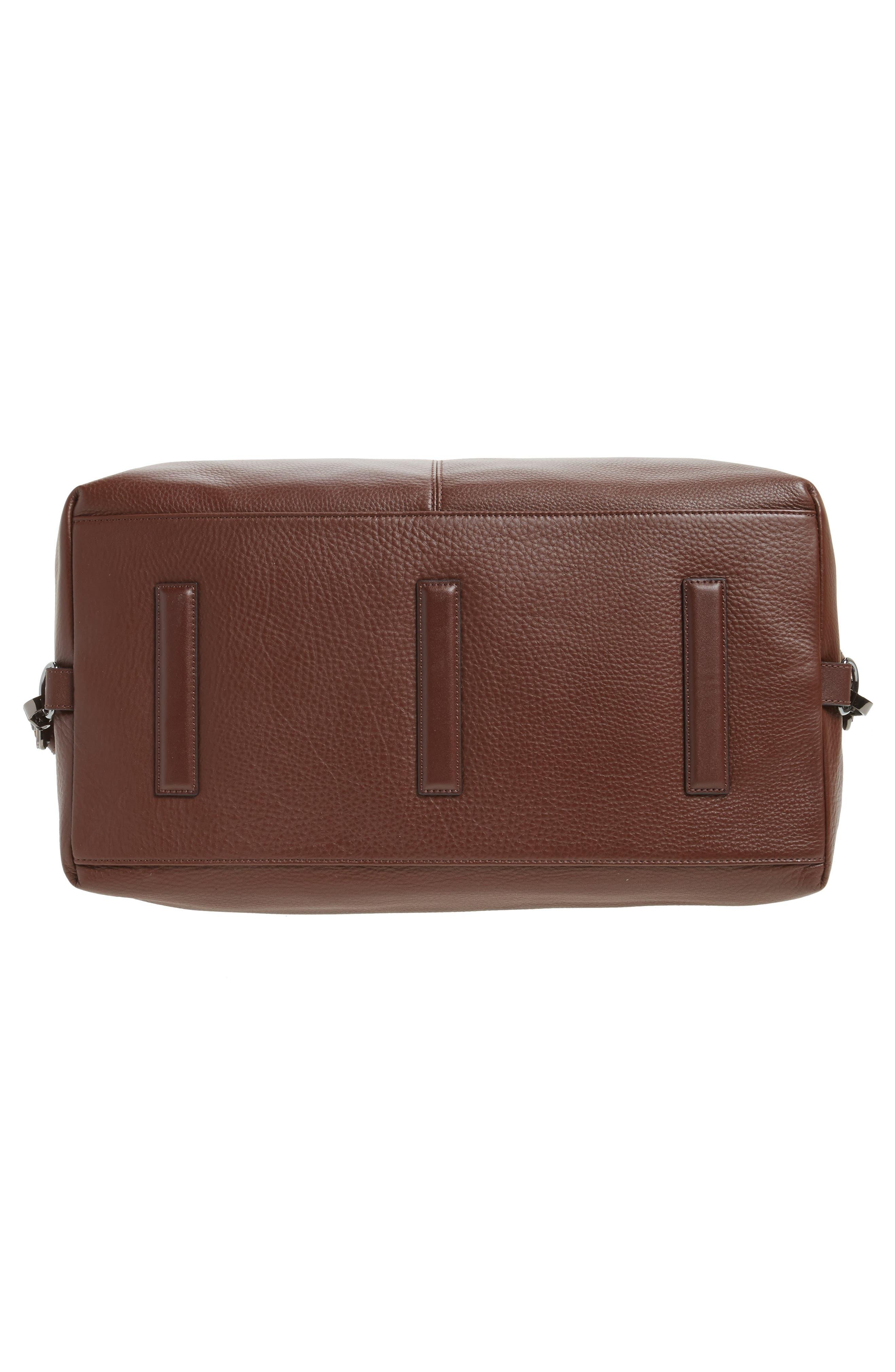 Leather Duffel Bag,                             Alternate thumbnail 6, color,                             217