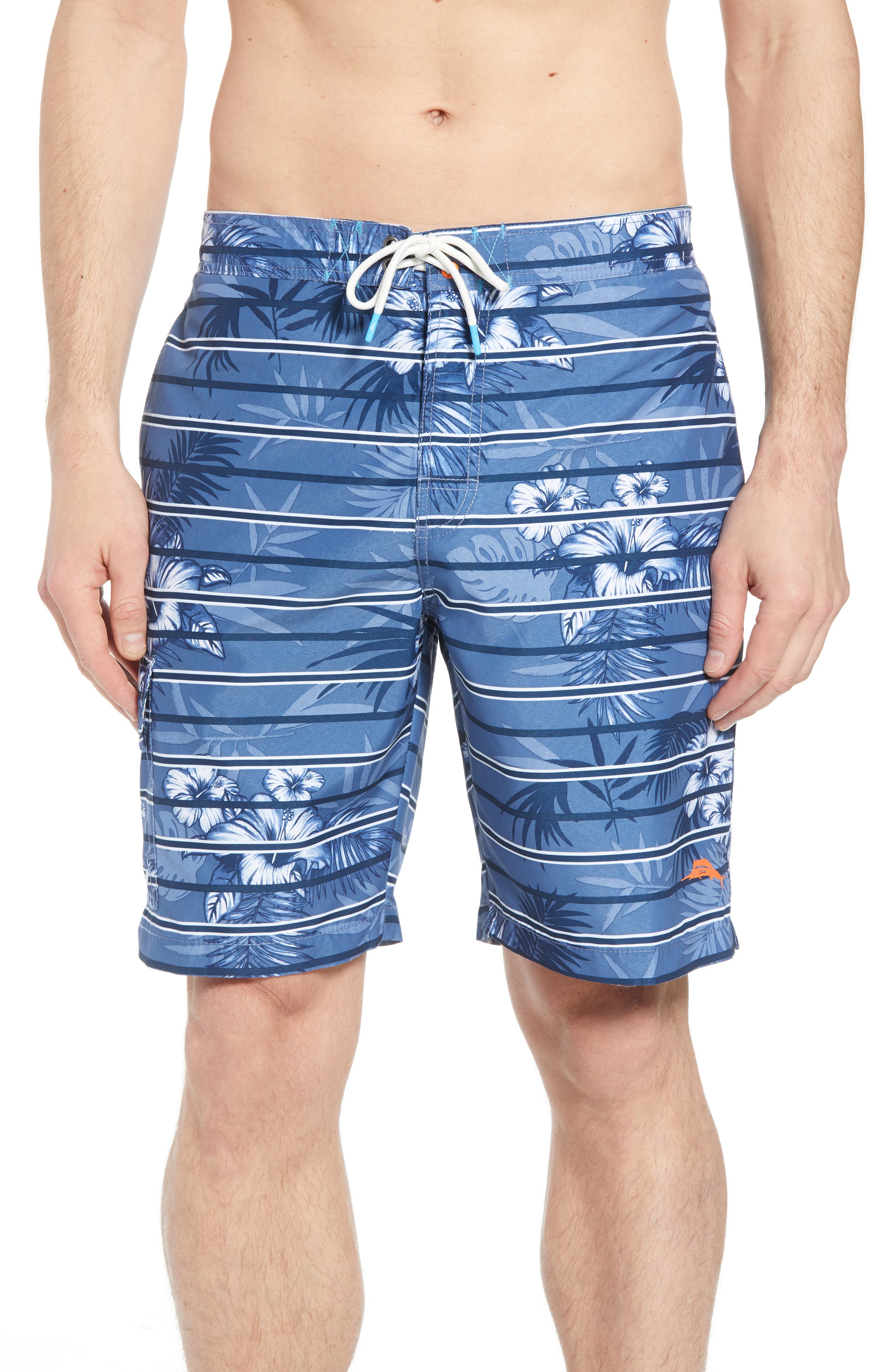 Baja Satillo Stripe Board Shorts,                             Main thumbnail 2, color,