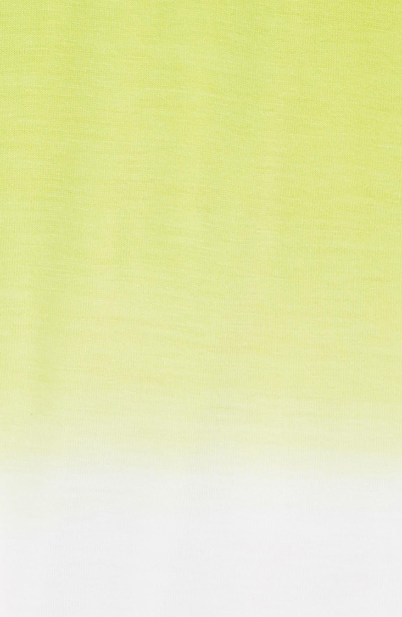 Dip Dye Cold Shoulder Tee,                             Alternate thumbnail 2, color,                             330