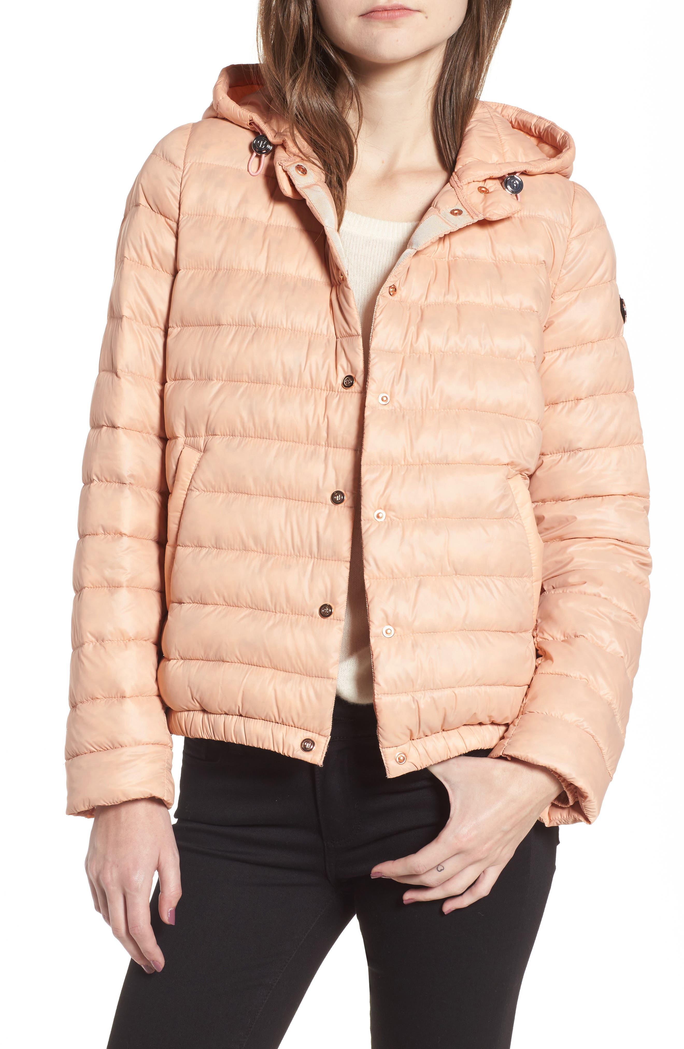 Water Resistant Insulated Hooded Bomber Jacket,                             Main thumbnail 3, color,