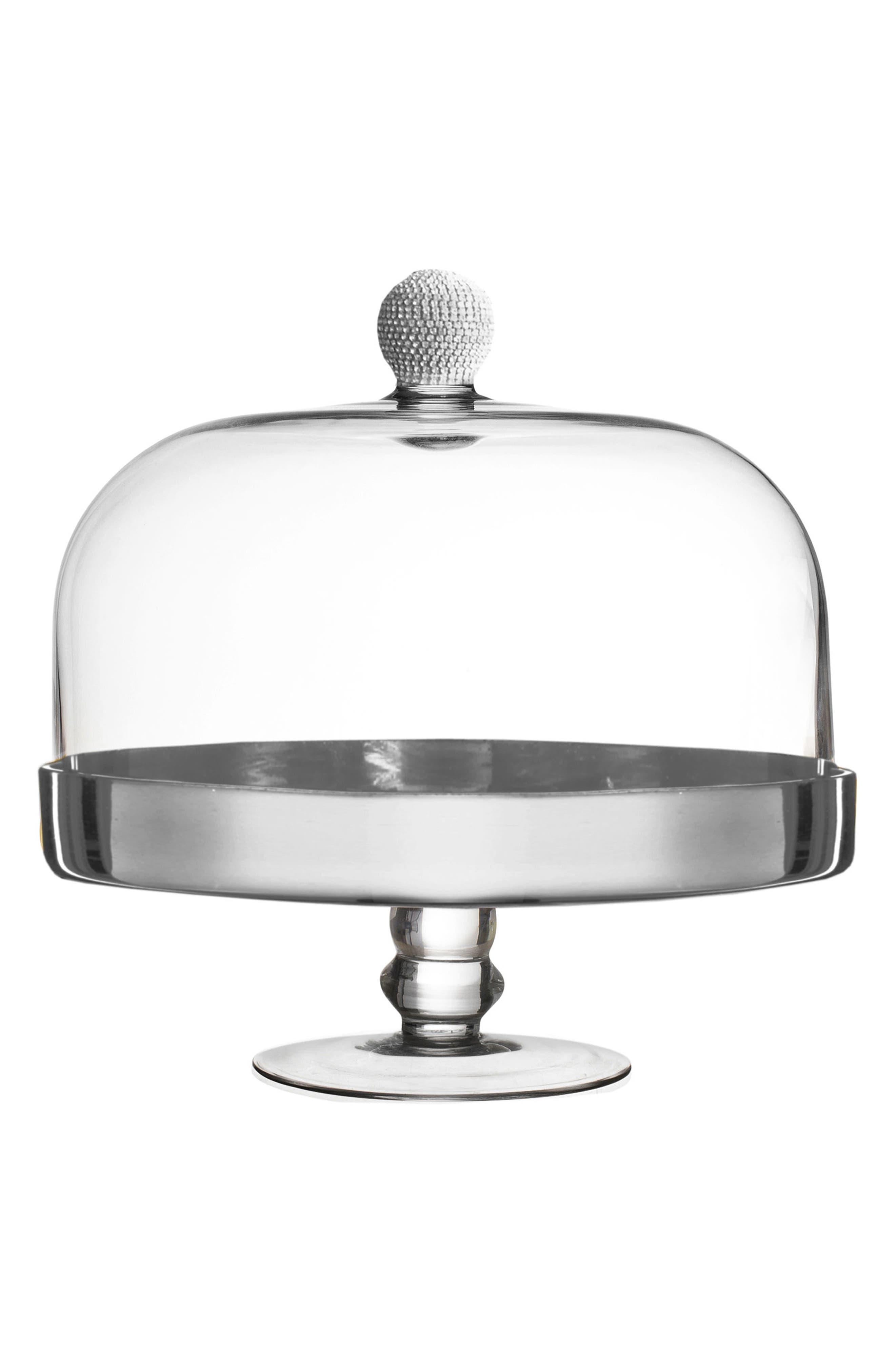 Silver Medley Pedestal Plate,                             Main thumbnail 1, color,                             040