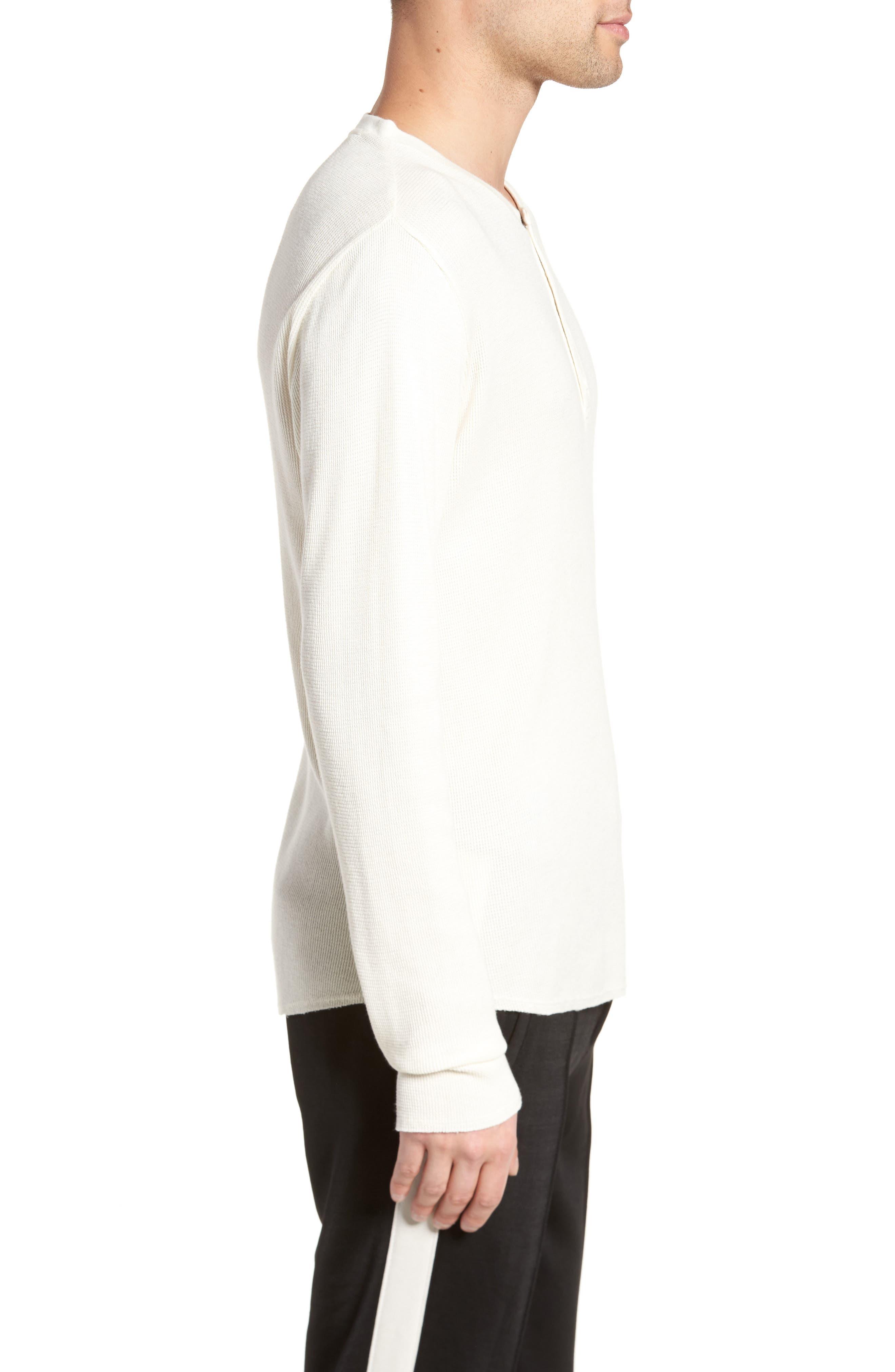 Thermal Knit Long Sleeve Henley T-Shirt,                             Alternate thumbnail 3, color,                             101