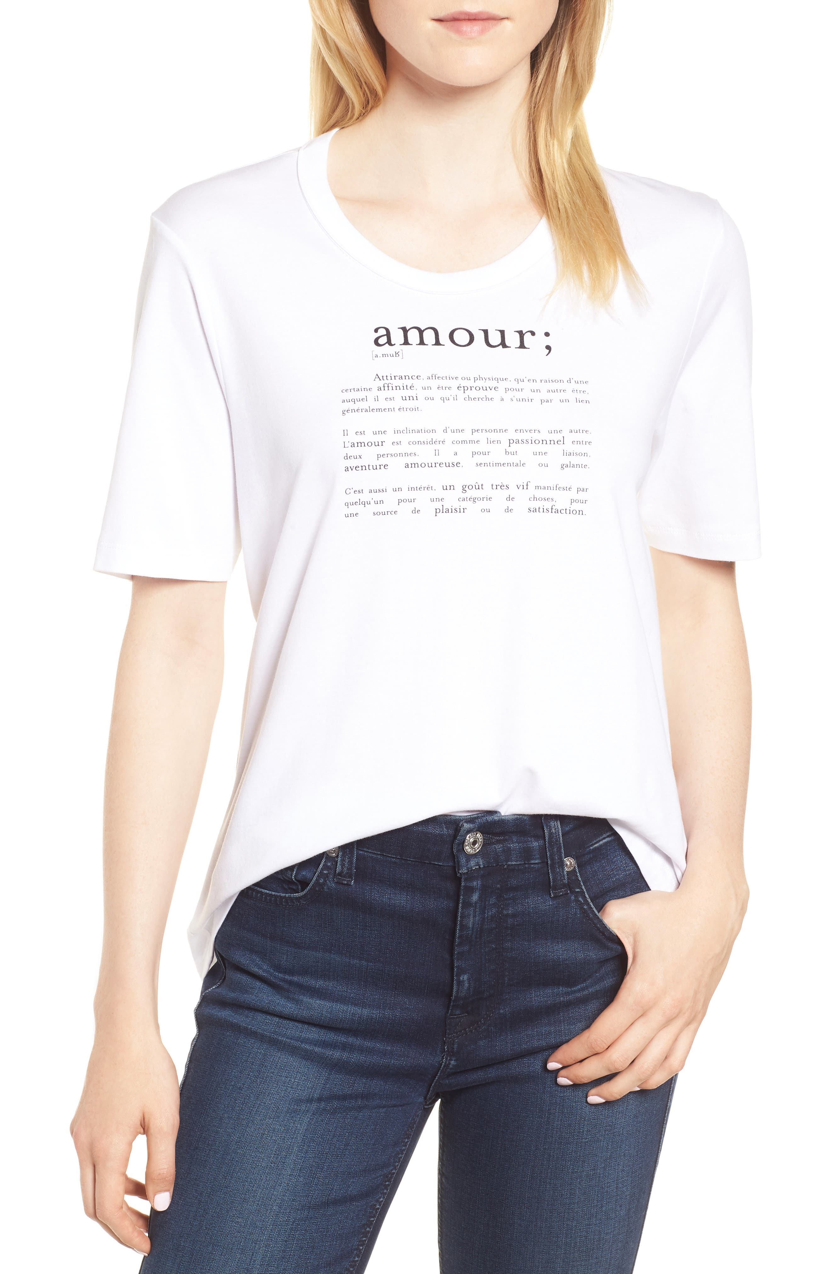 Ida Amour Tee,                             Main thumbnail 1, color,                             116