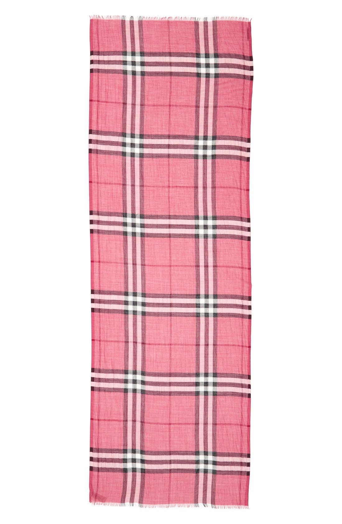 Giant Check Print Wool & Silk Scarf,                             Alternate thumbnail 118, color,