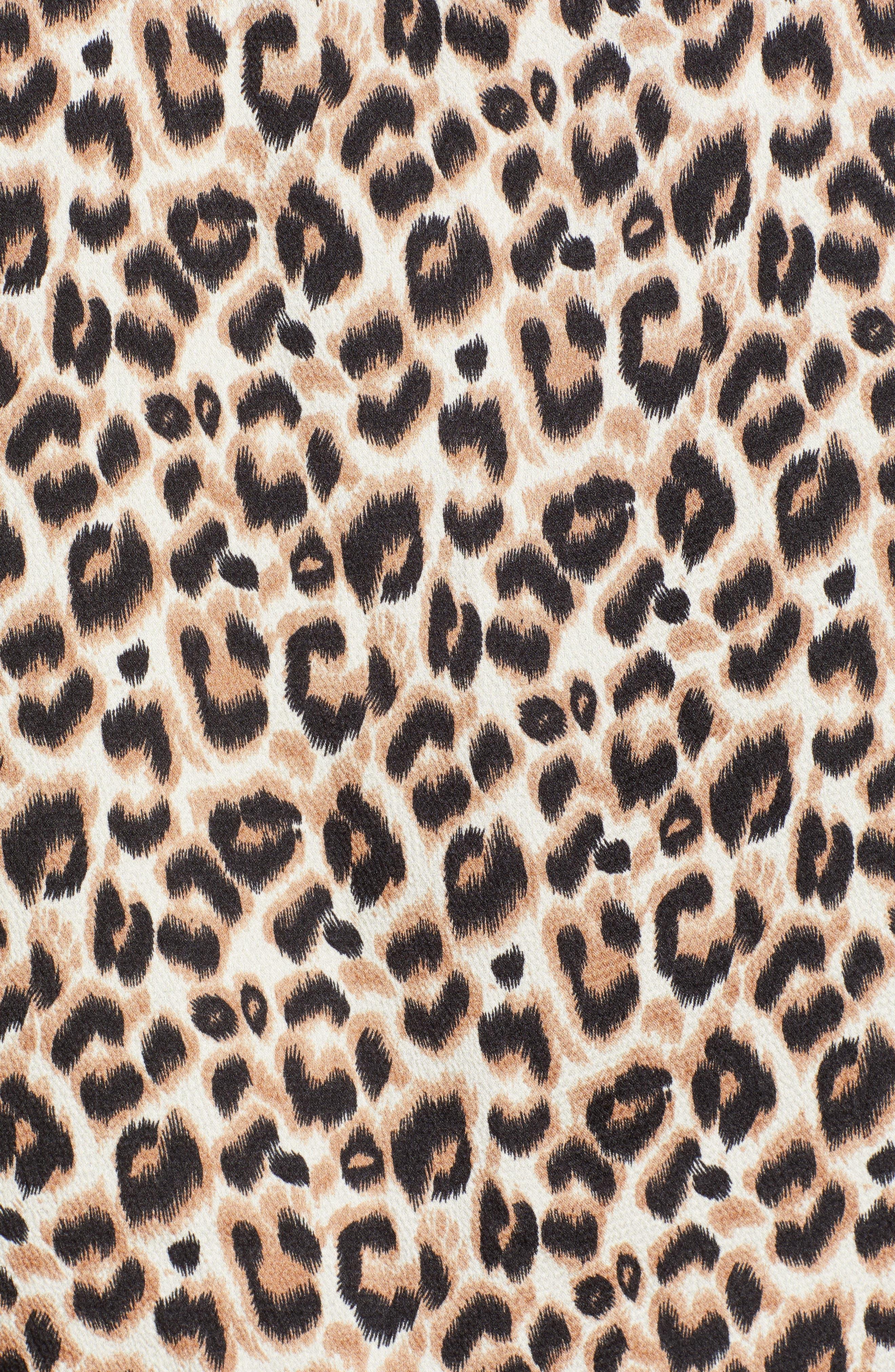 Misty Lace Trim Camisole,                             Alternate thumbnail 5, color,                             LEOPARD