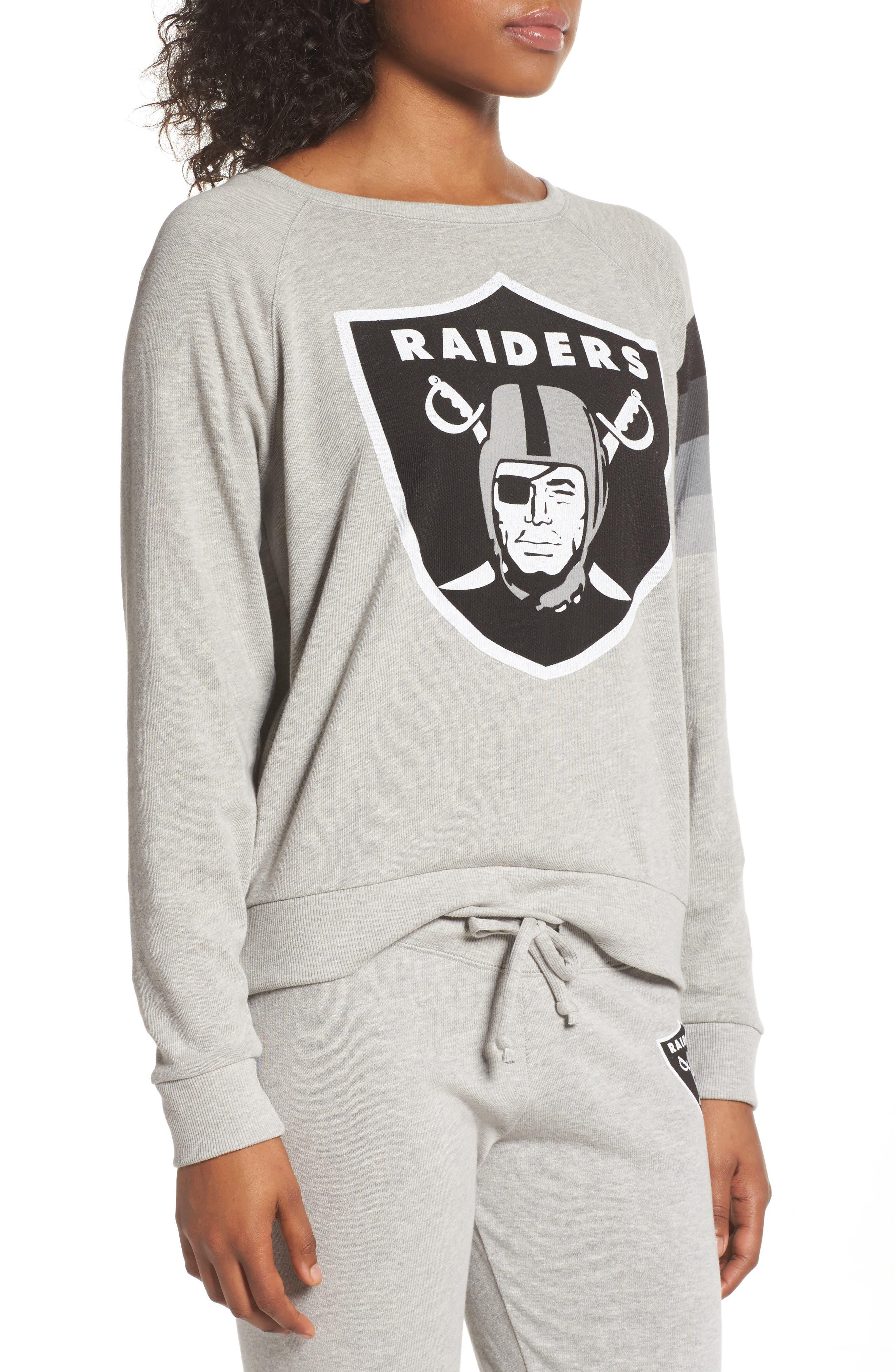 NFL Oakland Raiders Hacci Sweatshirt,                             Alternate thumbnail 3, color,