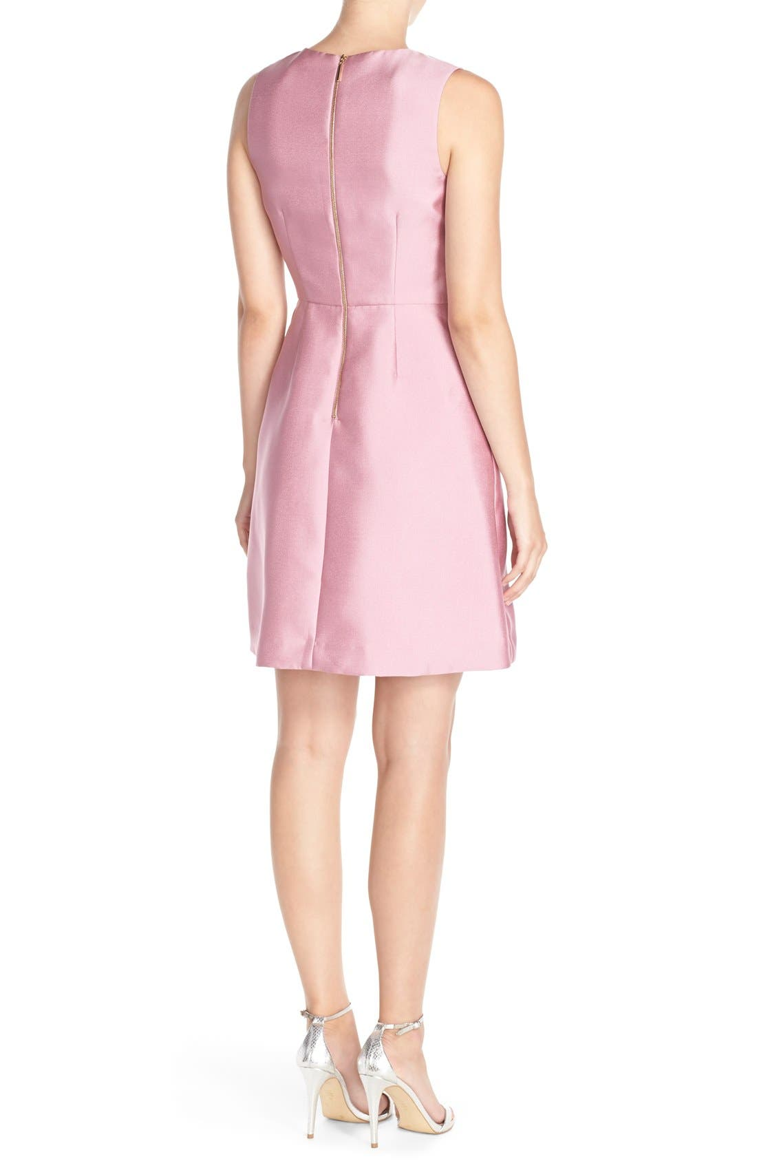 'Sophie' Twill Fit & Flare Dress,                             Alternate thumbnail 3, color,                             663