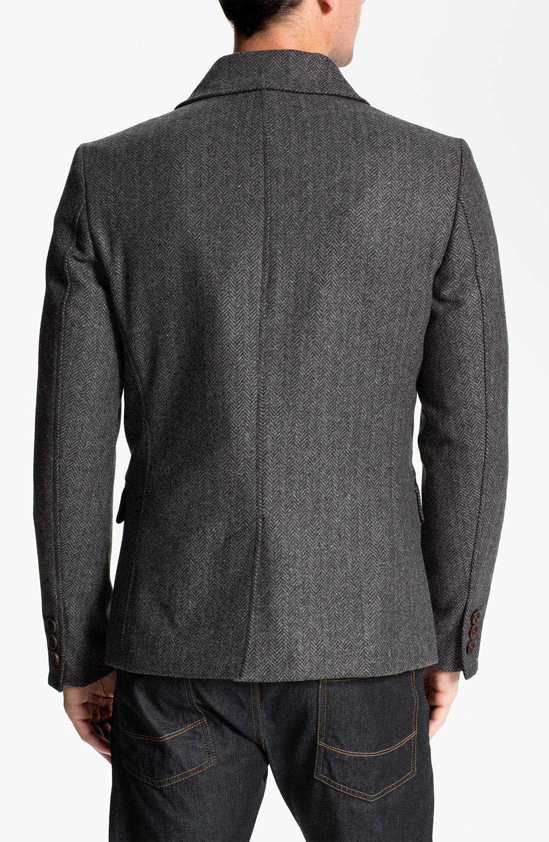 'Ananic' Shawl Collar Wool Blend Blazer,                             Alternate thumbnail 3, color,                             020