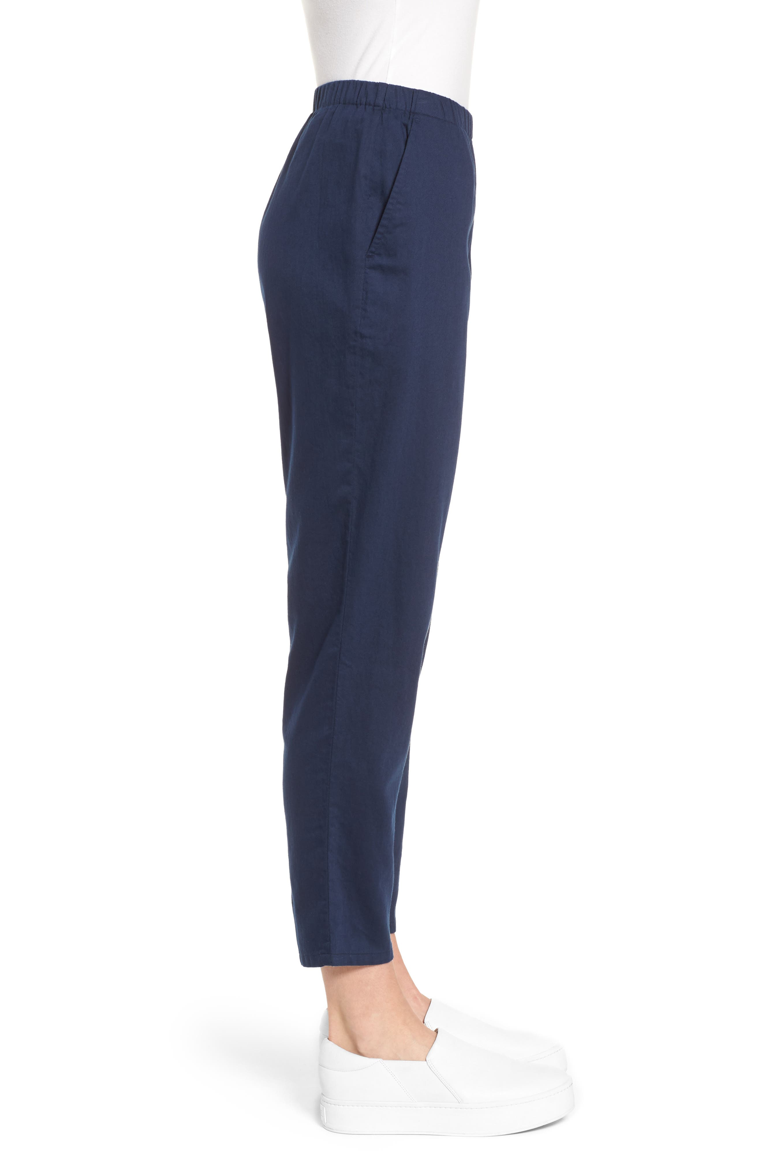 Organic Cotton Tapered Ankle Pants,                             Alternate thumbnail 13, color,