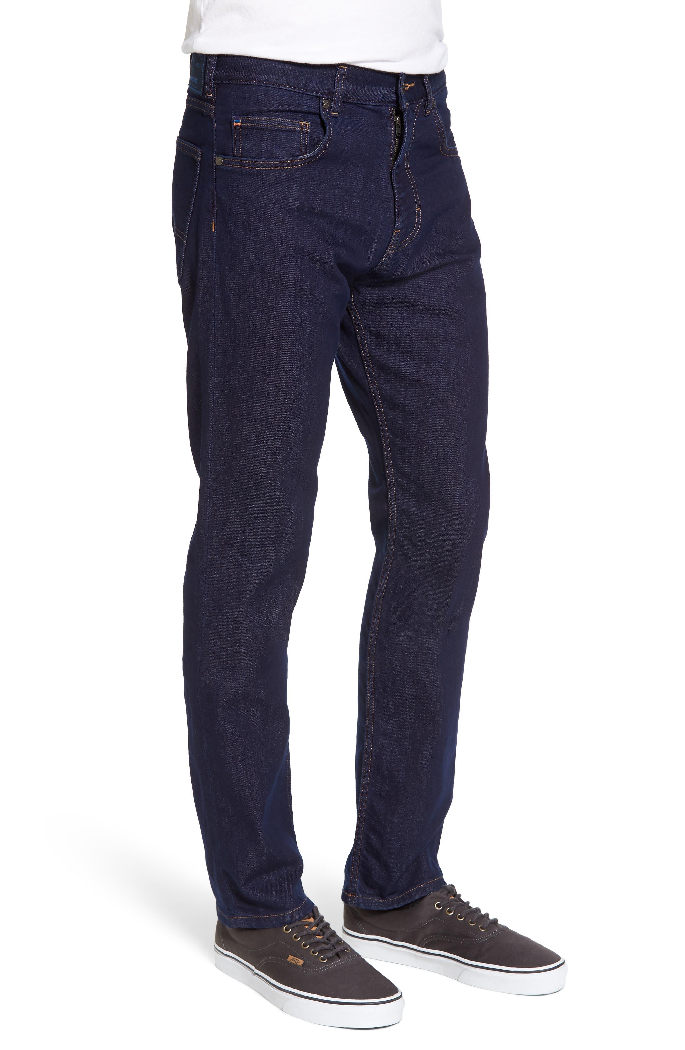 Straight Leg Performance Jeans,                             Alternate thumbnail 3, color,                             DARK DENIM
