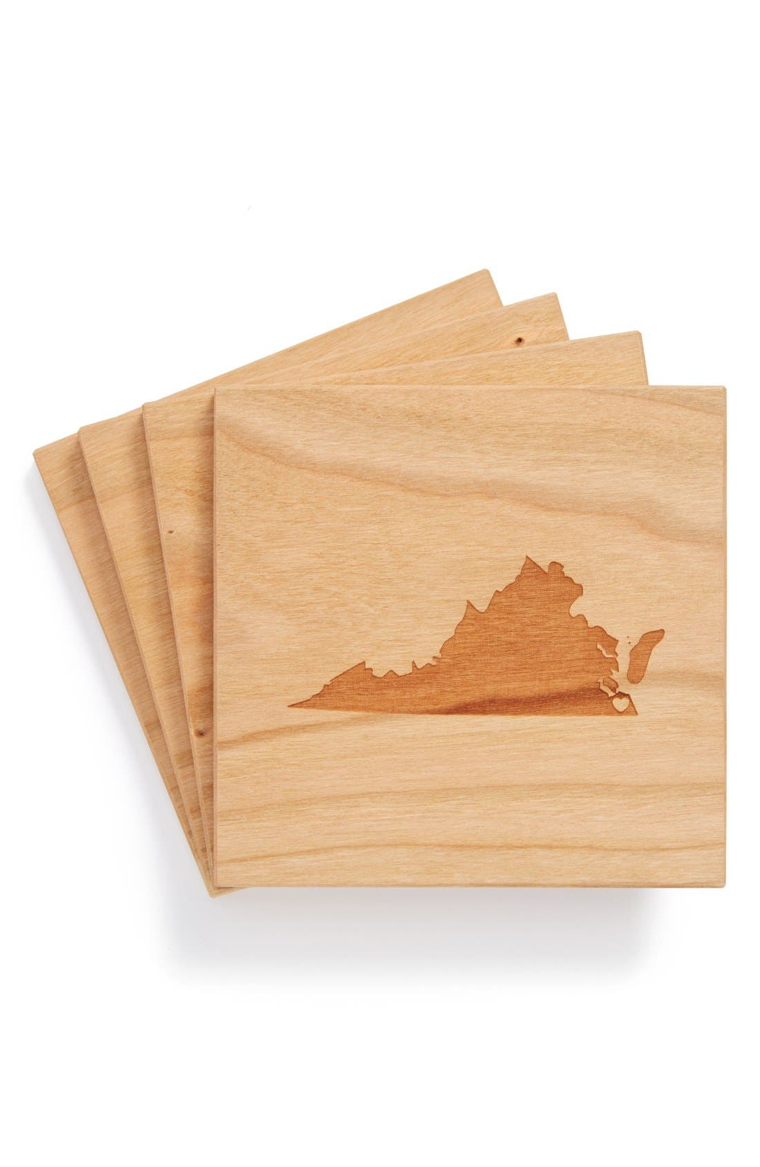 'State Silhouette' Coasters,                             Main thumbnail 39, color,