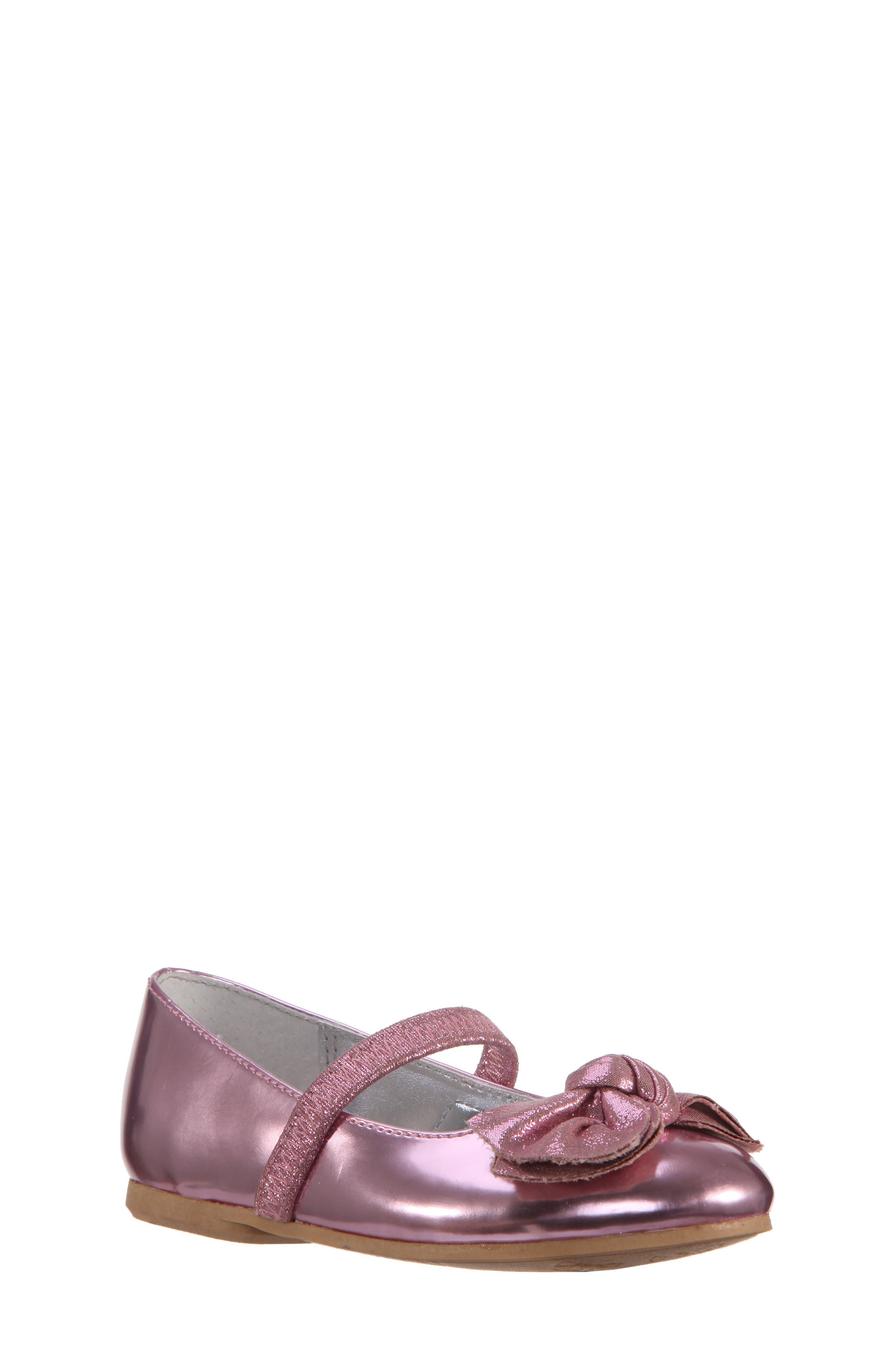 Kaytelyn-T Glitter Bow Ballet Flat,                             Main thumbnail 5, color,