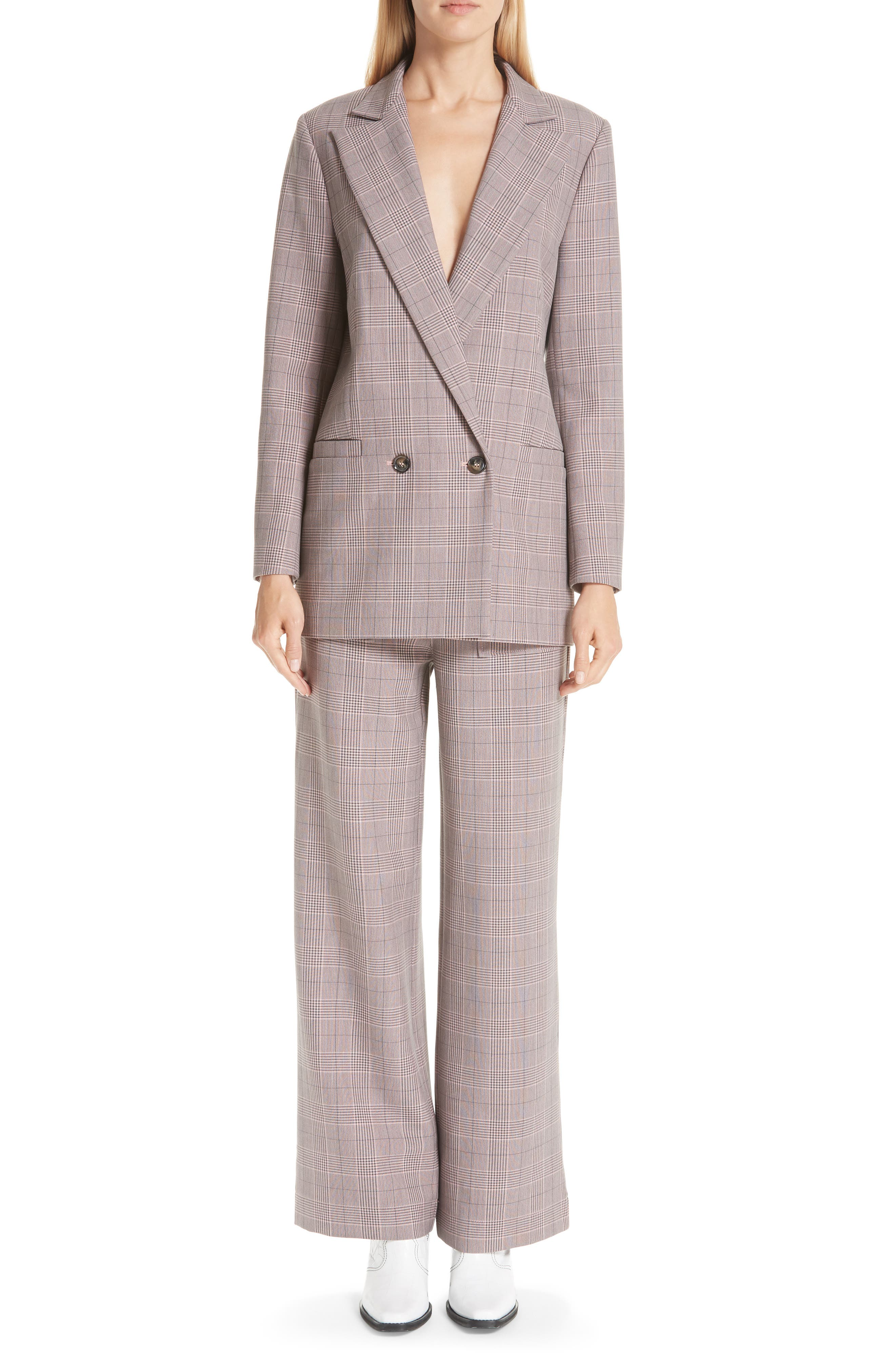 Suiting Blazer,                             Alternate thumbnail 7, color,                             SILVER PINK 499