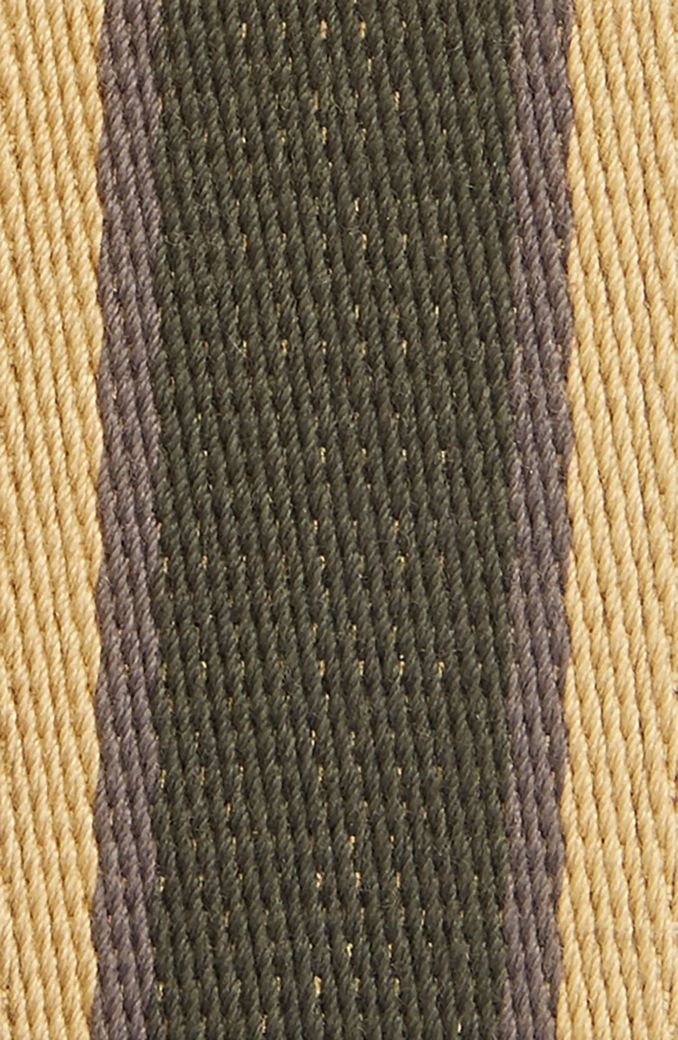 Signature Stripe Webbing Belt,                             Alternate thumbnail 2, color,                             DARK MOSS/ GILDED AMBER