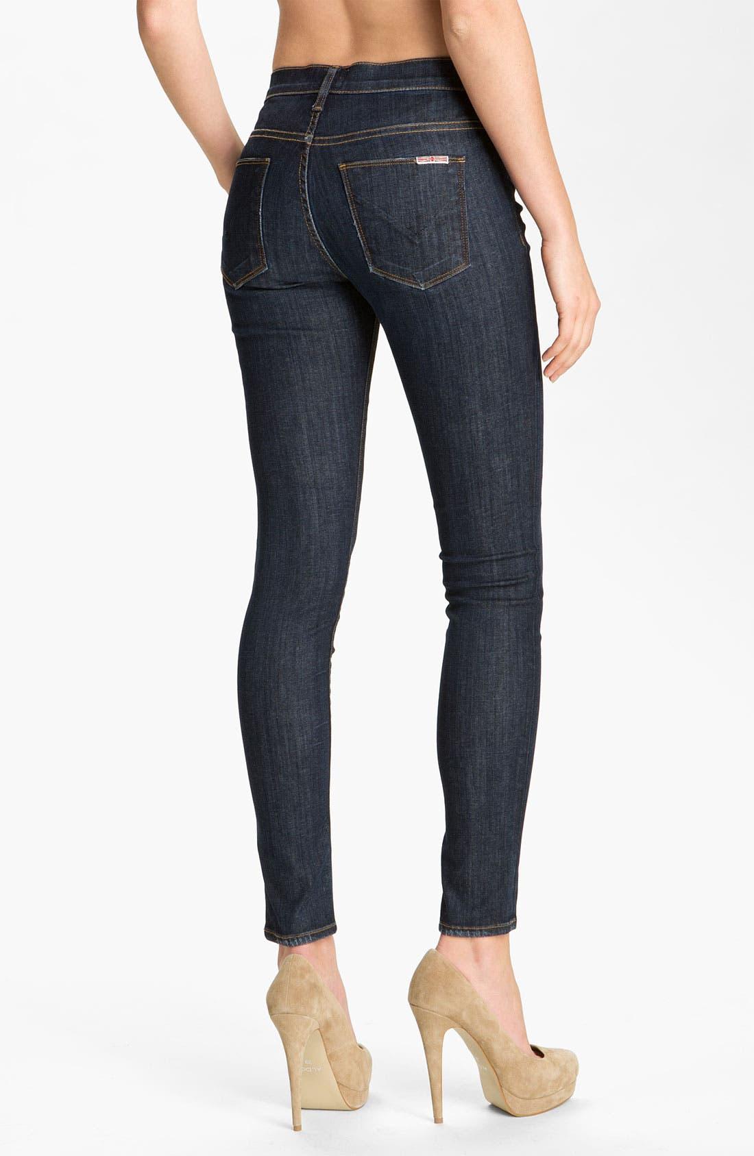 'Nico' Mid Rise Skinny Jeans,                             Alternate thumbnail 3, color,                             400