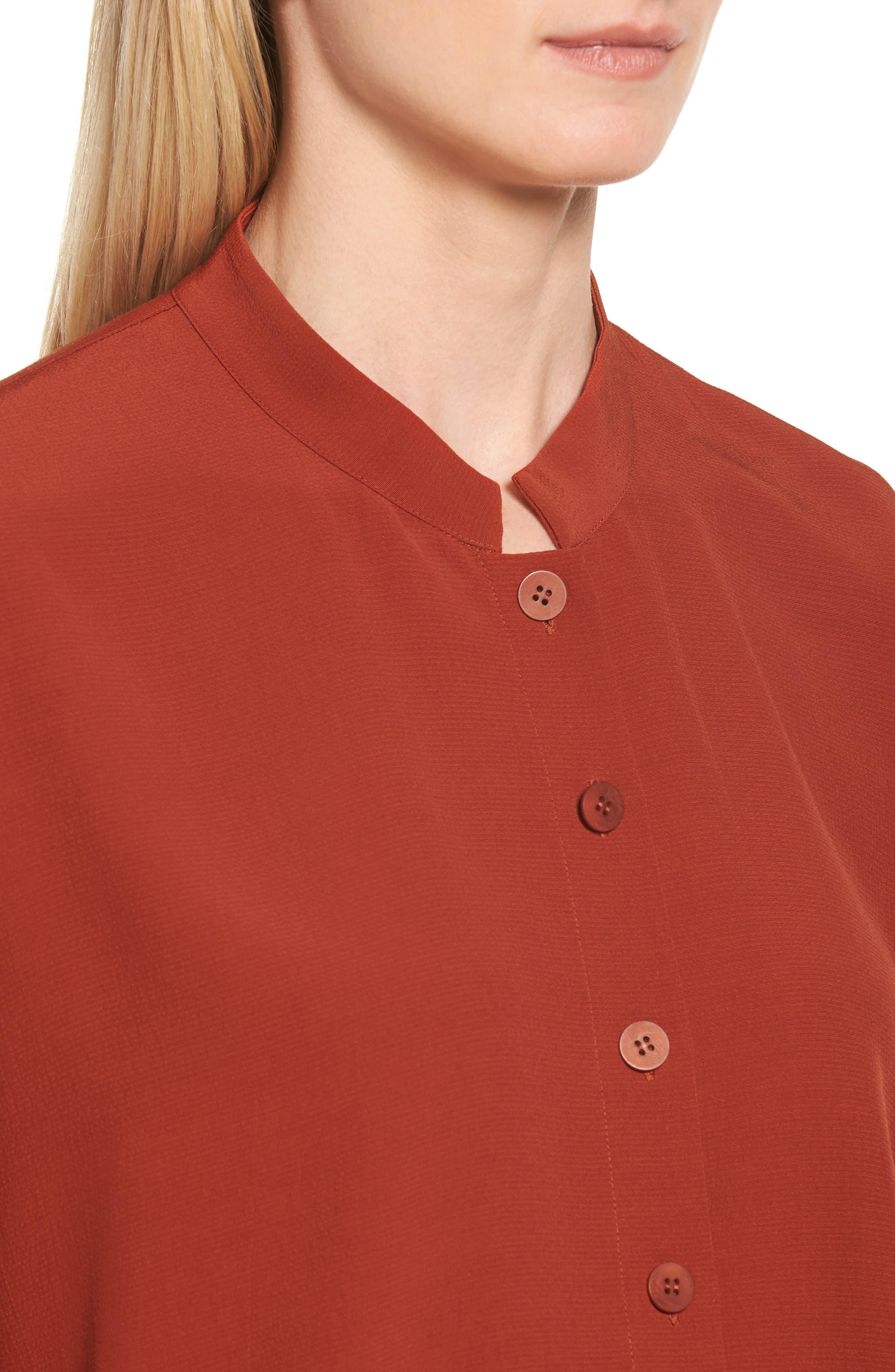 Mandarin Collar Boxy Top,                             Alternate thumbnail 12, color,