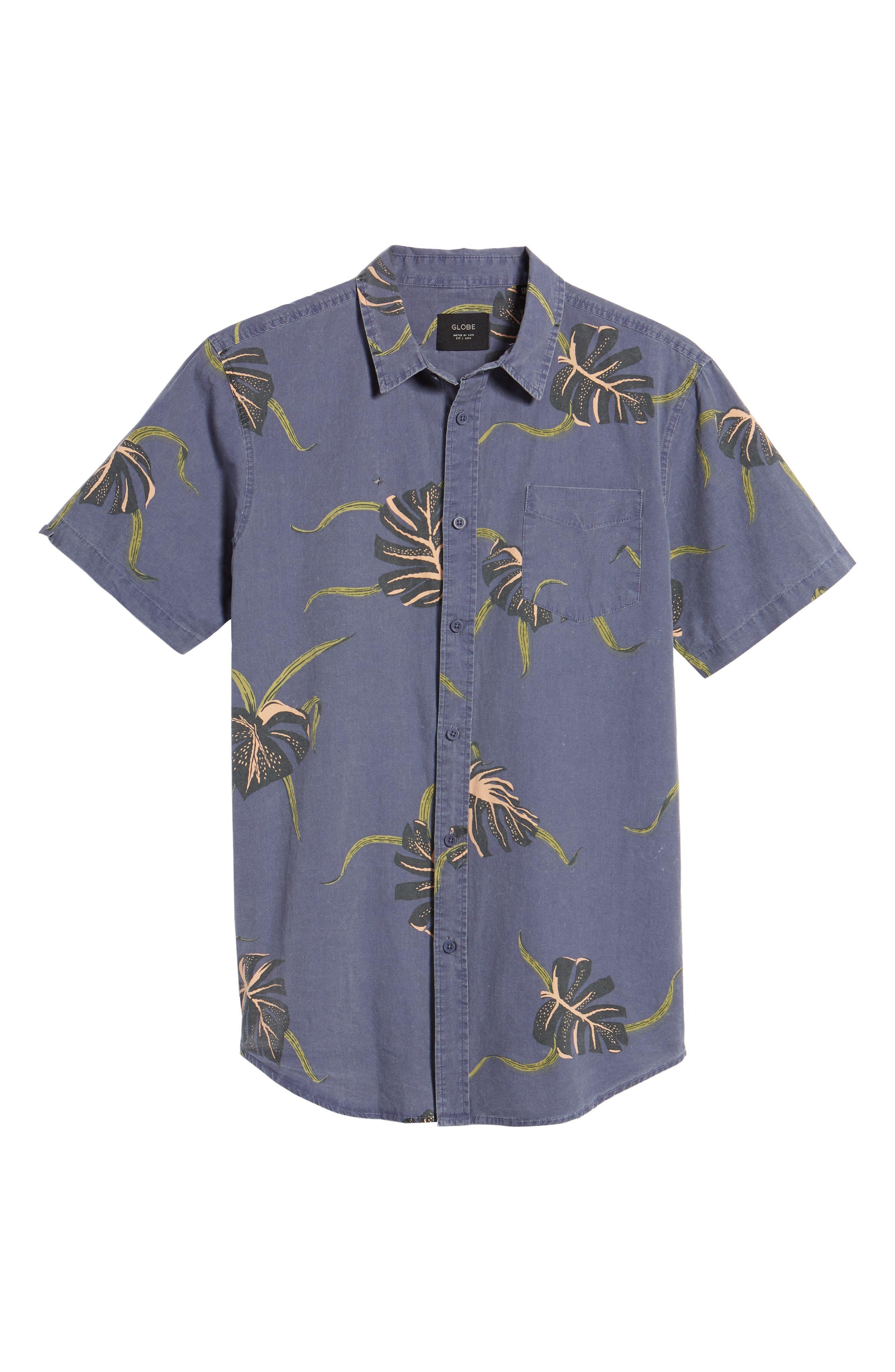 Pointer Woven Shirt,                             Alternate thumbnail 6, color,                             MOONLIGHT BLUE