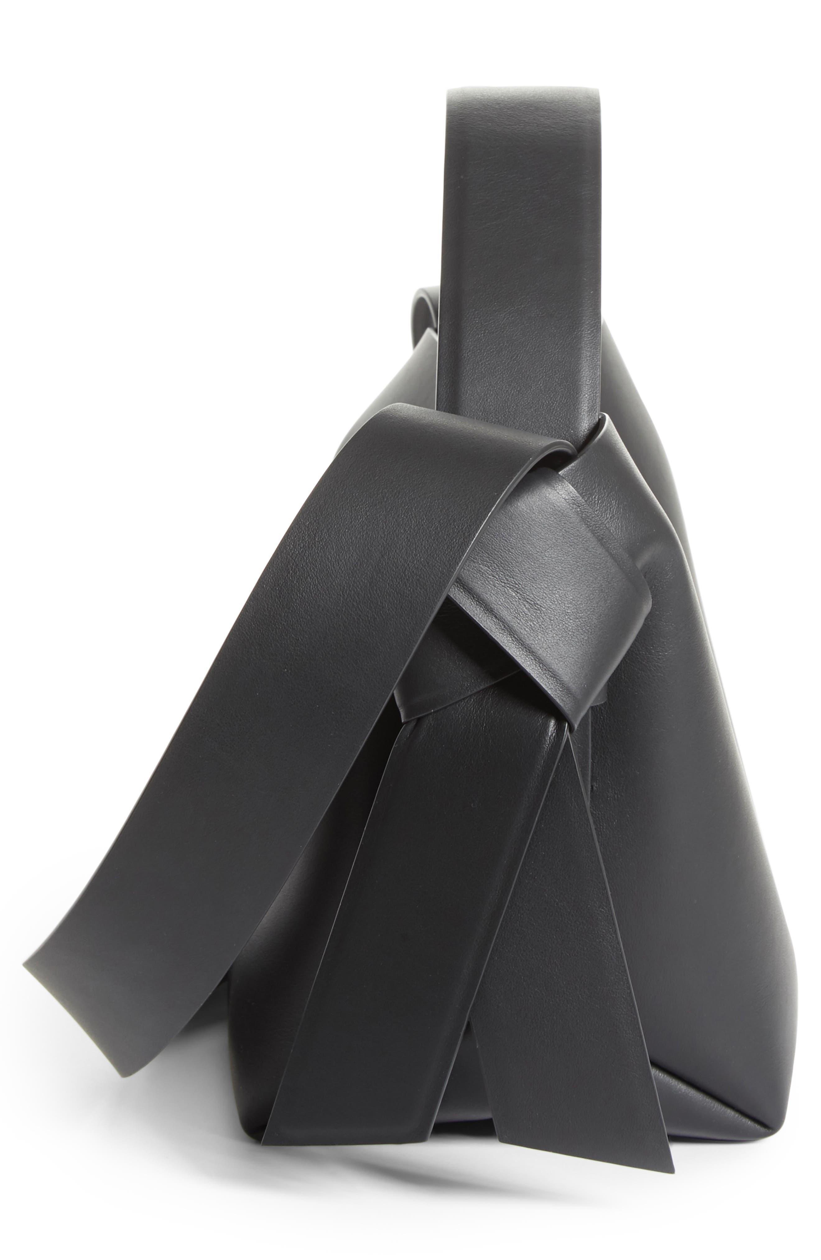 Musubi Leather Mini Bag,                             Alternate thumbnail 5, color,                             BLACK