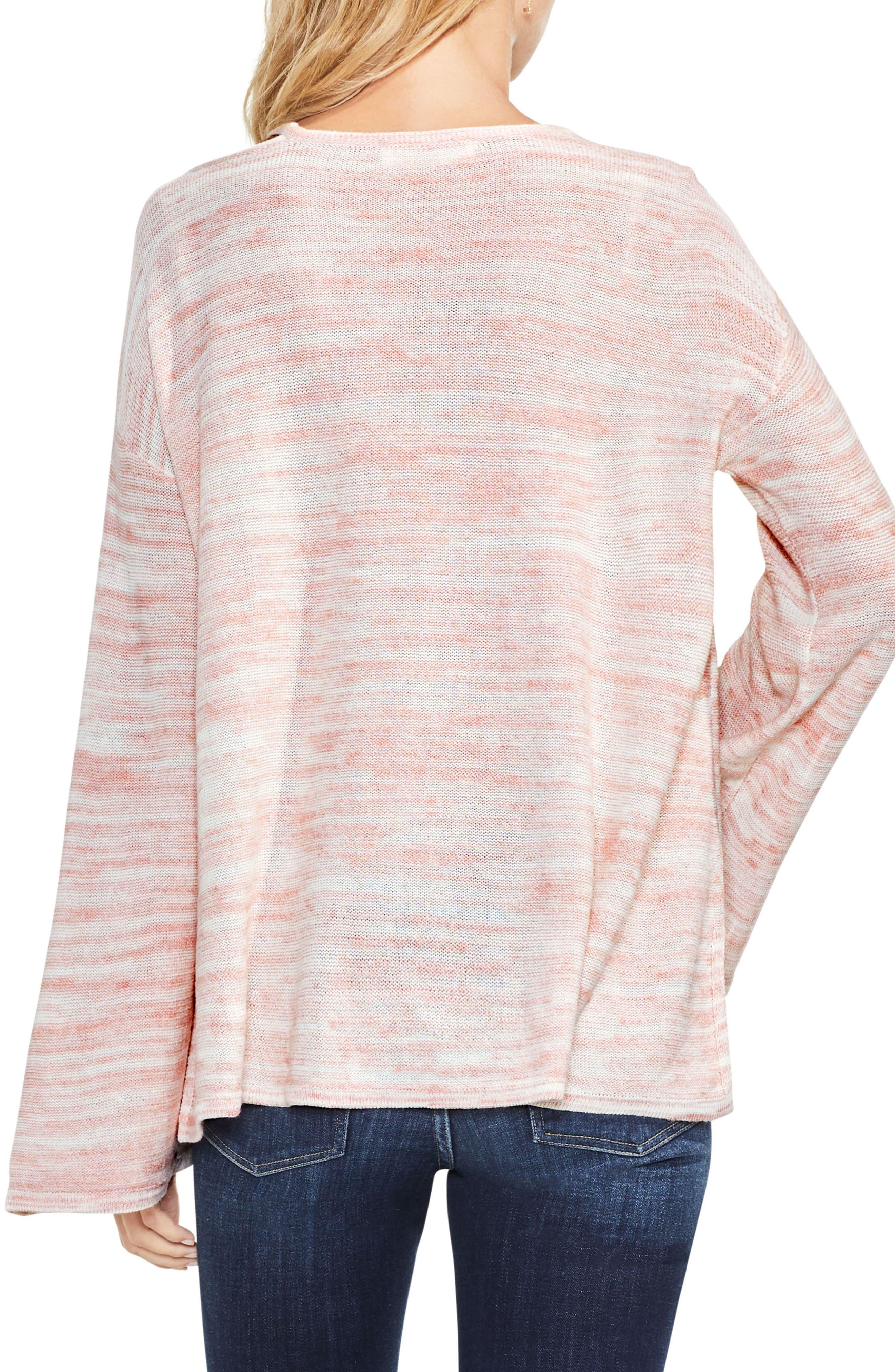Drop Shoulder Space Dye Sweater,                             Alternate thumbnail 4, color,