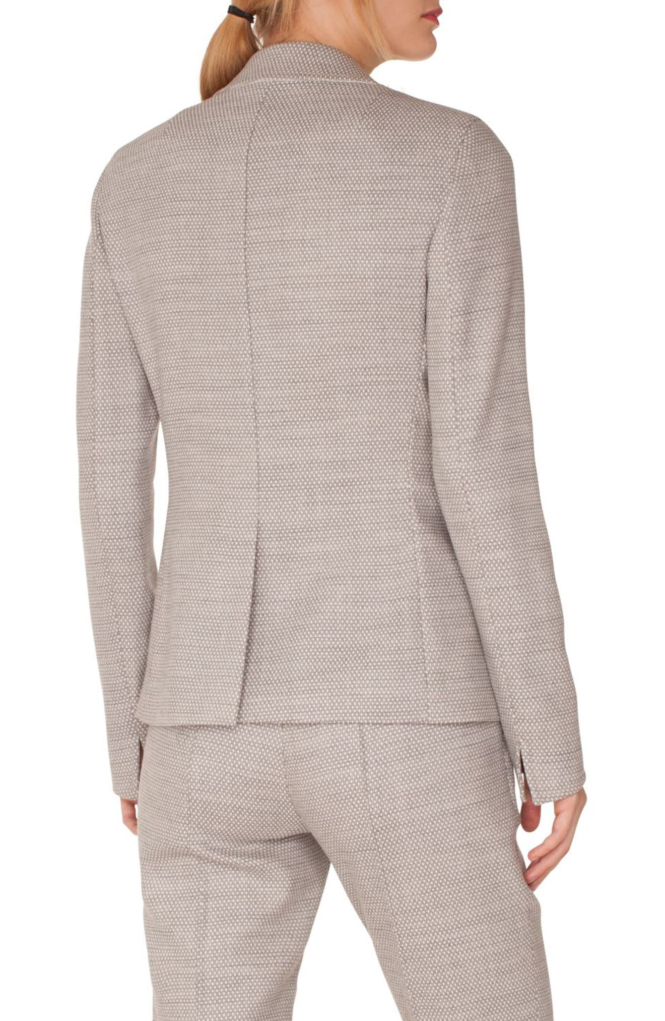 Stretch Wool Blazer,                             Alternate thumbnail 2, color,                             SILVER-CREAM
