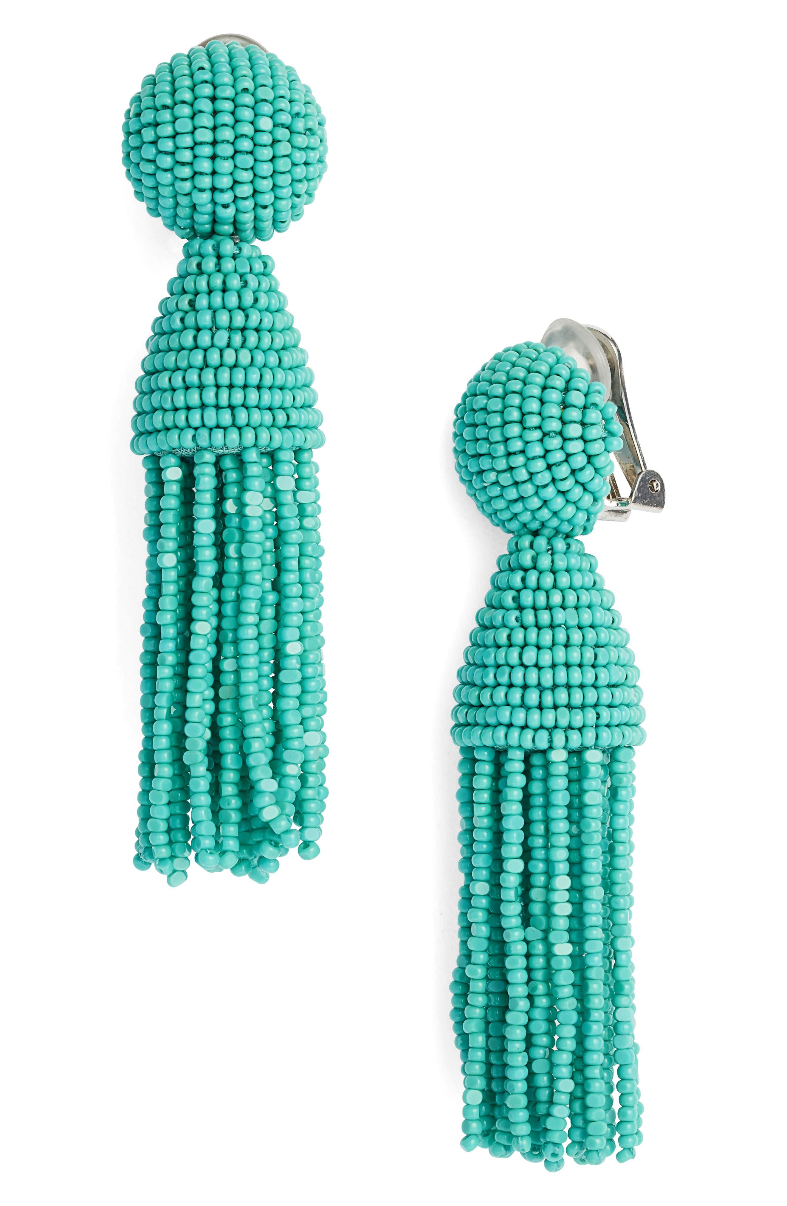 'Classic Short' Tassel Drop Clip Earrings,                             Main thumbnail 15, color,