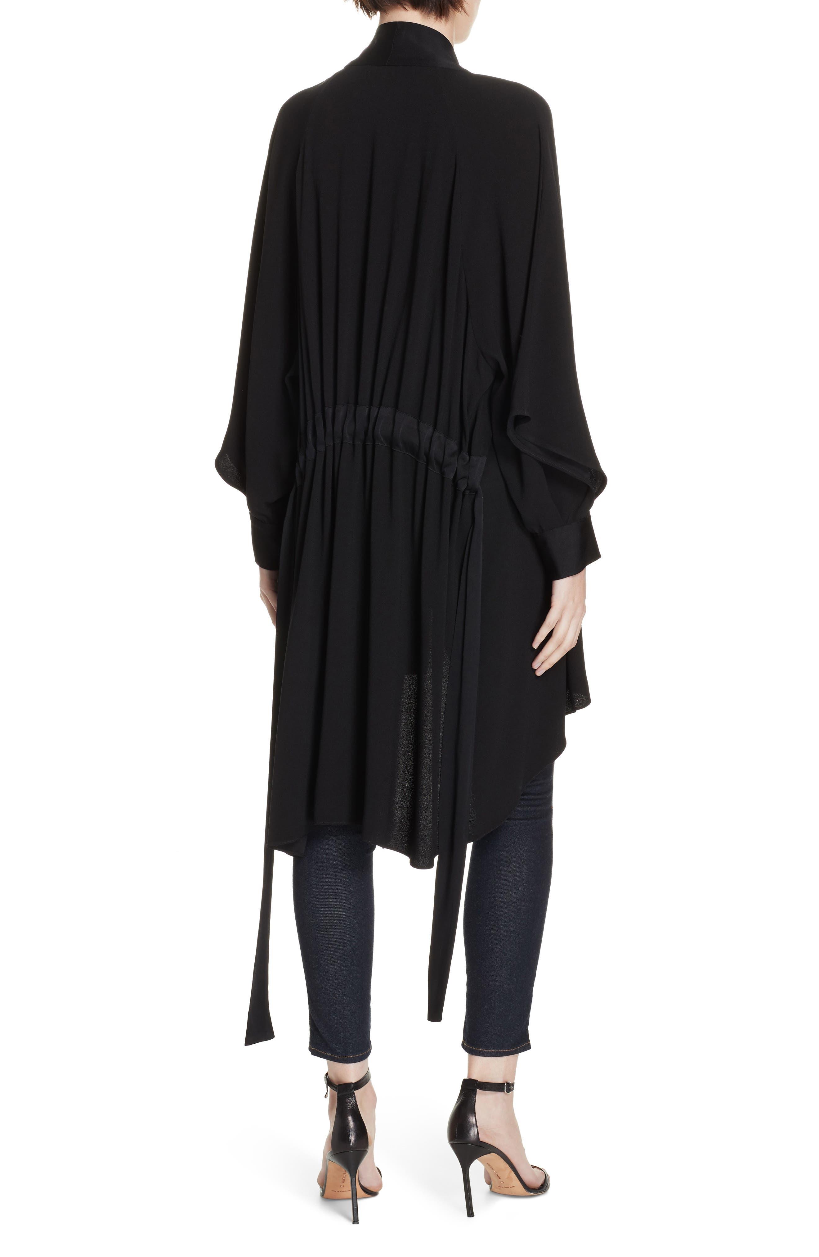 Deon Kimono Wrap,                             Alternate thumbnail 3, color,                             BLACK