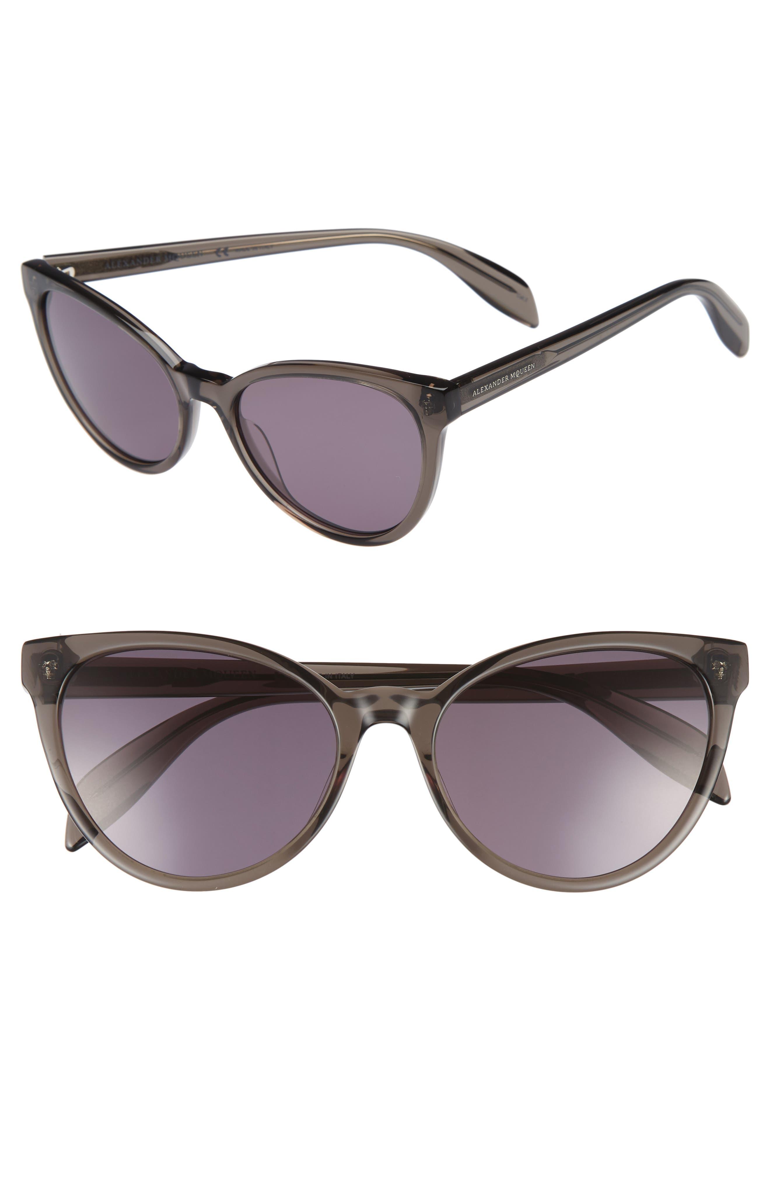 55mm Cat Eye Sunglasses,                             Main thumbnail 1, color,                             020