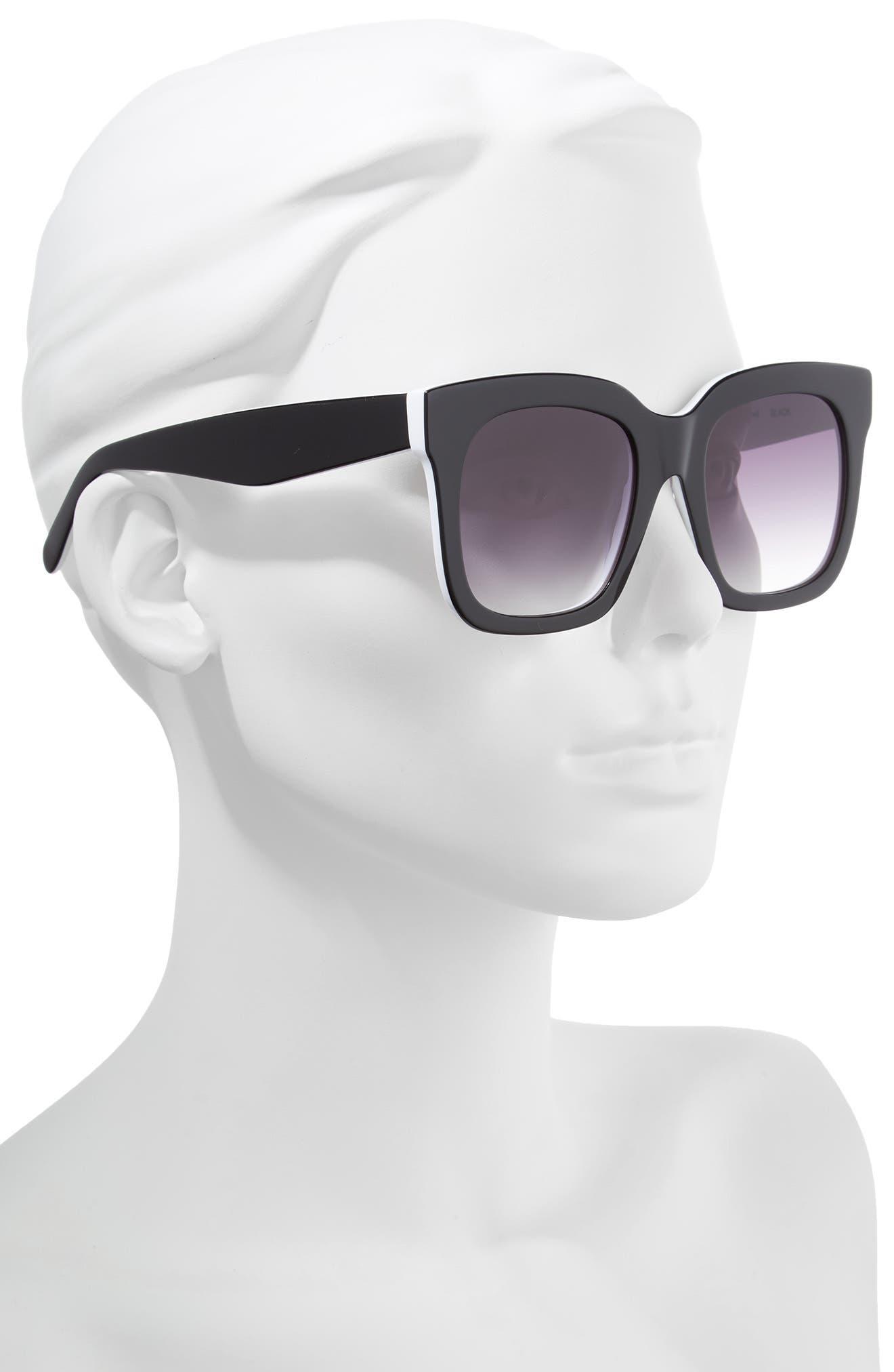 Coco 52mm Sunglasses,                             Alternate thumbnail 2, color,                             BLACK