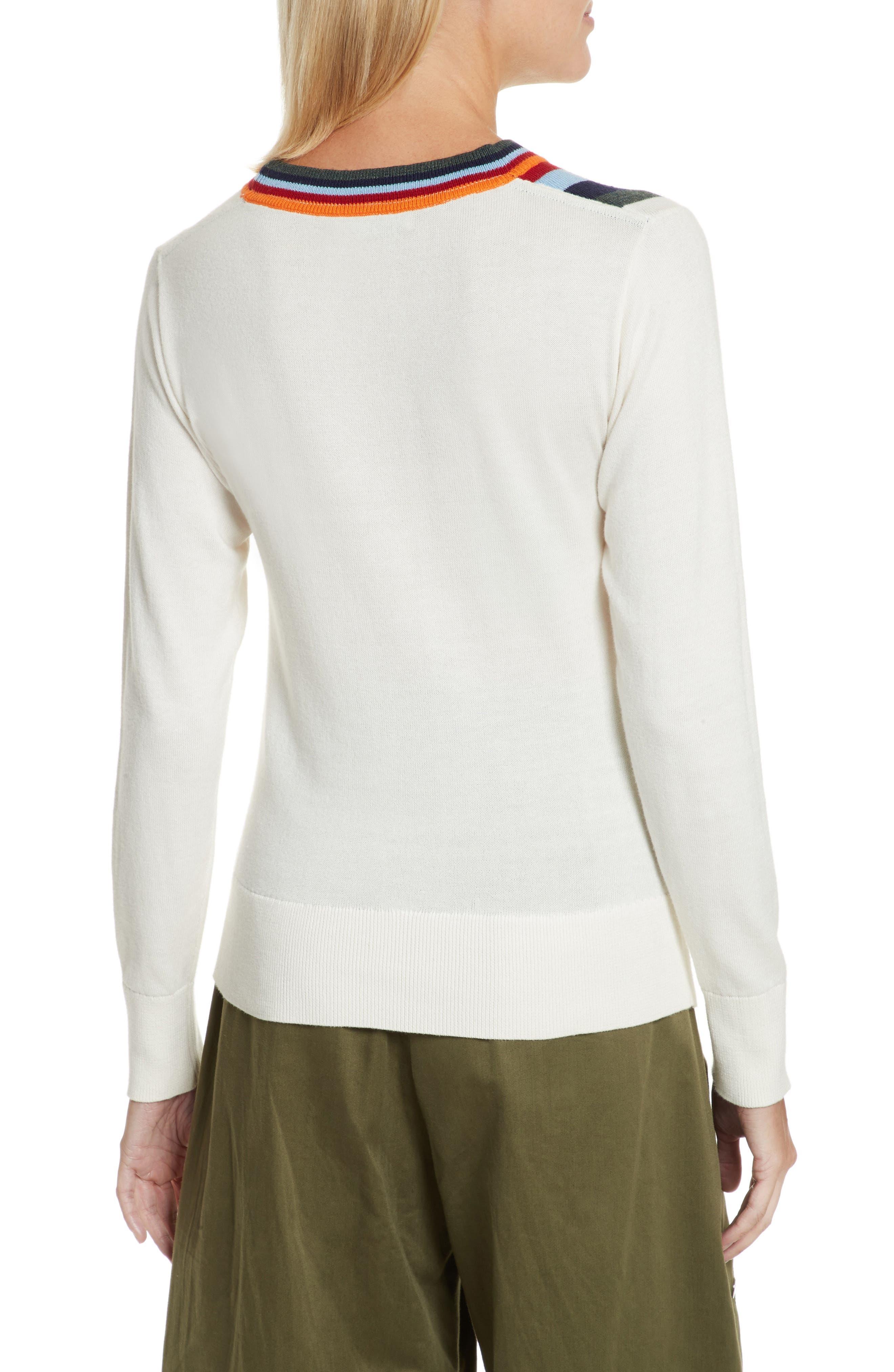 Nell Stripe Cotton Blend Sweater,                             Alternate thumbnail 2, color,