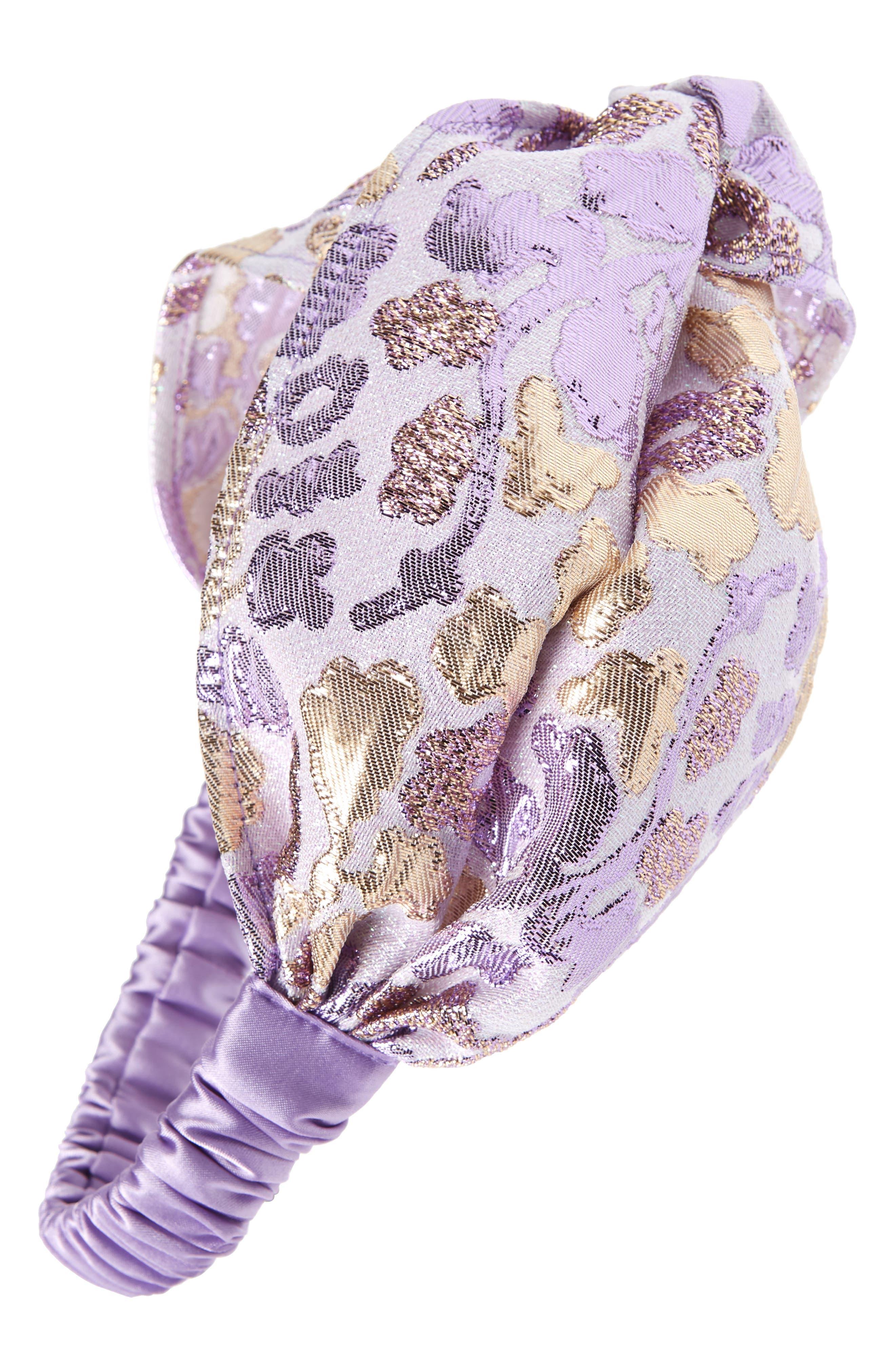 Metallic Brocade Head Wrap,                         Main,                         color, 500
