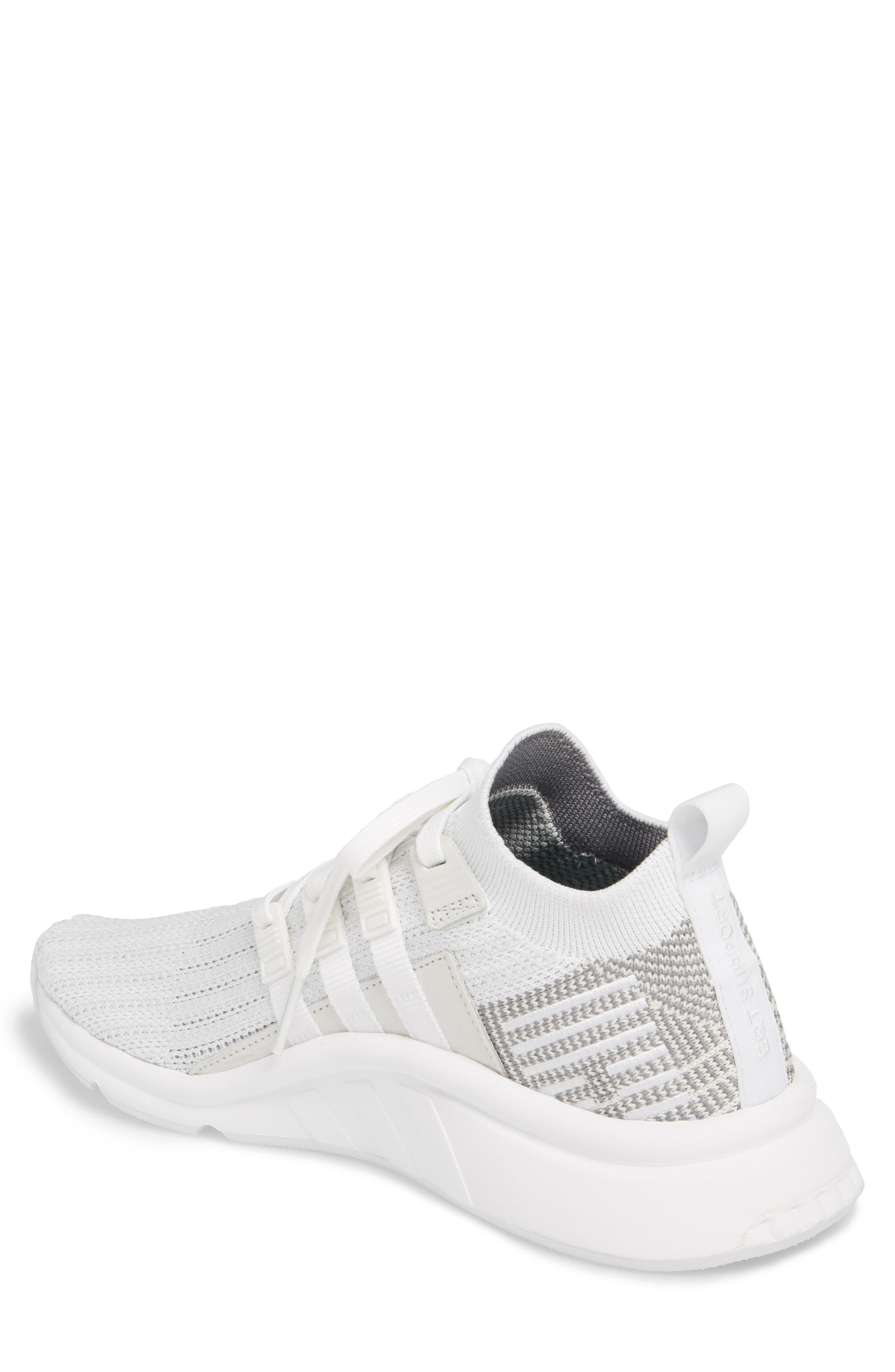 EQT Support Mid ADV Primeknit Sneaker,                             Alternate thumbnail 2, color,                             WHITE/ WHITE/ GREY