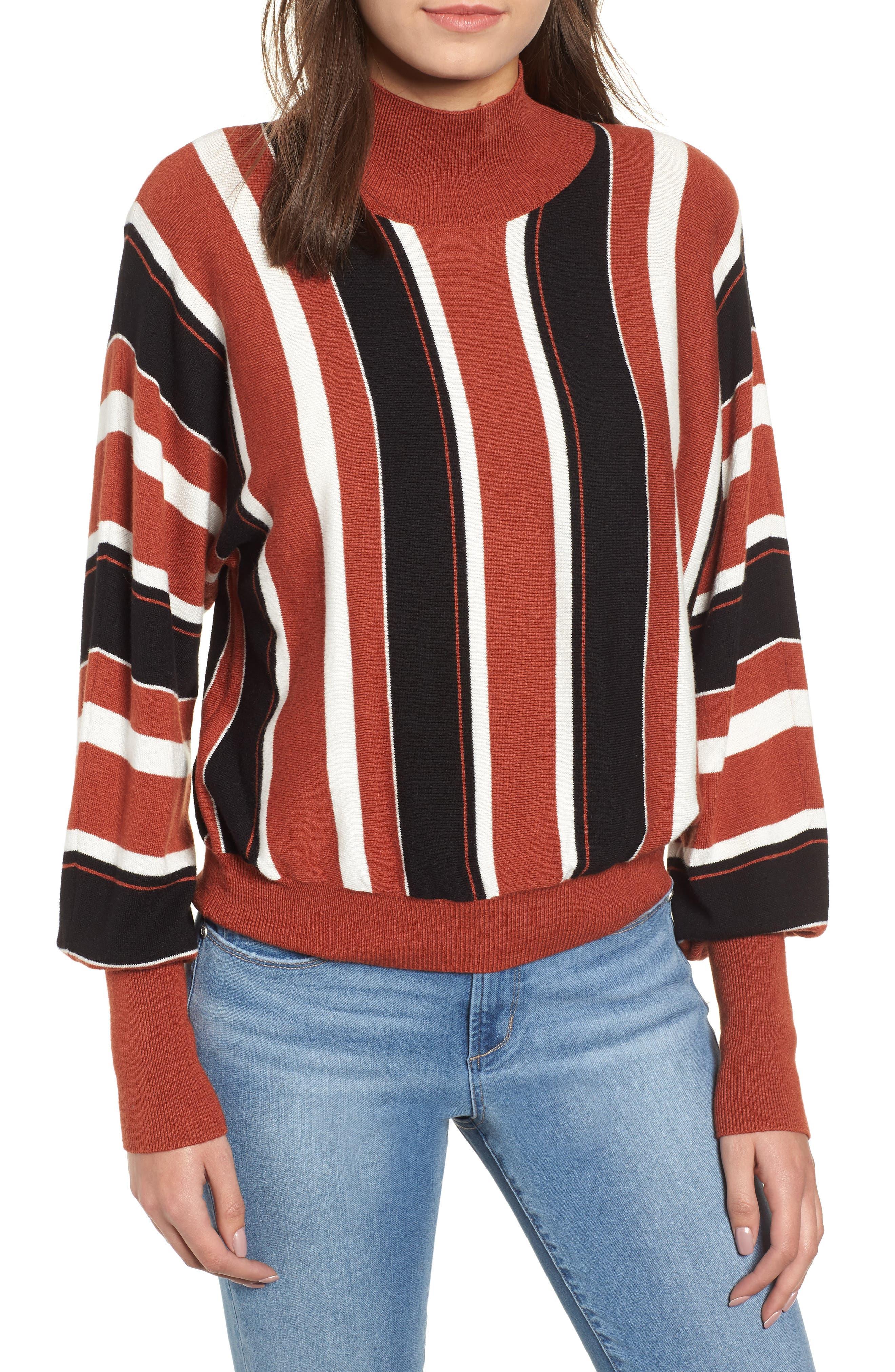 Stripe Dolman Sleeve Sweater,                             Main thumbnail 1, color,                             210