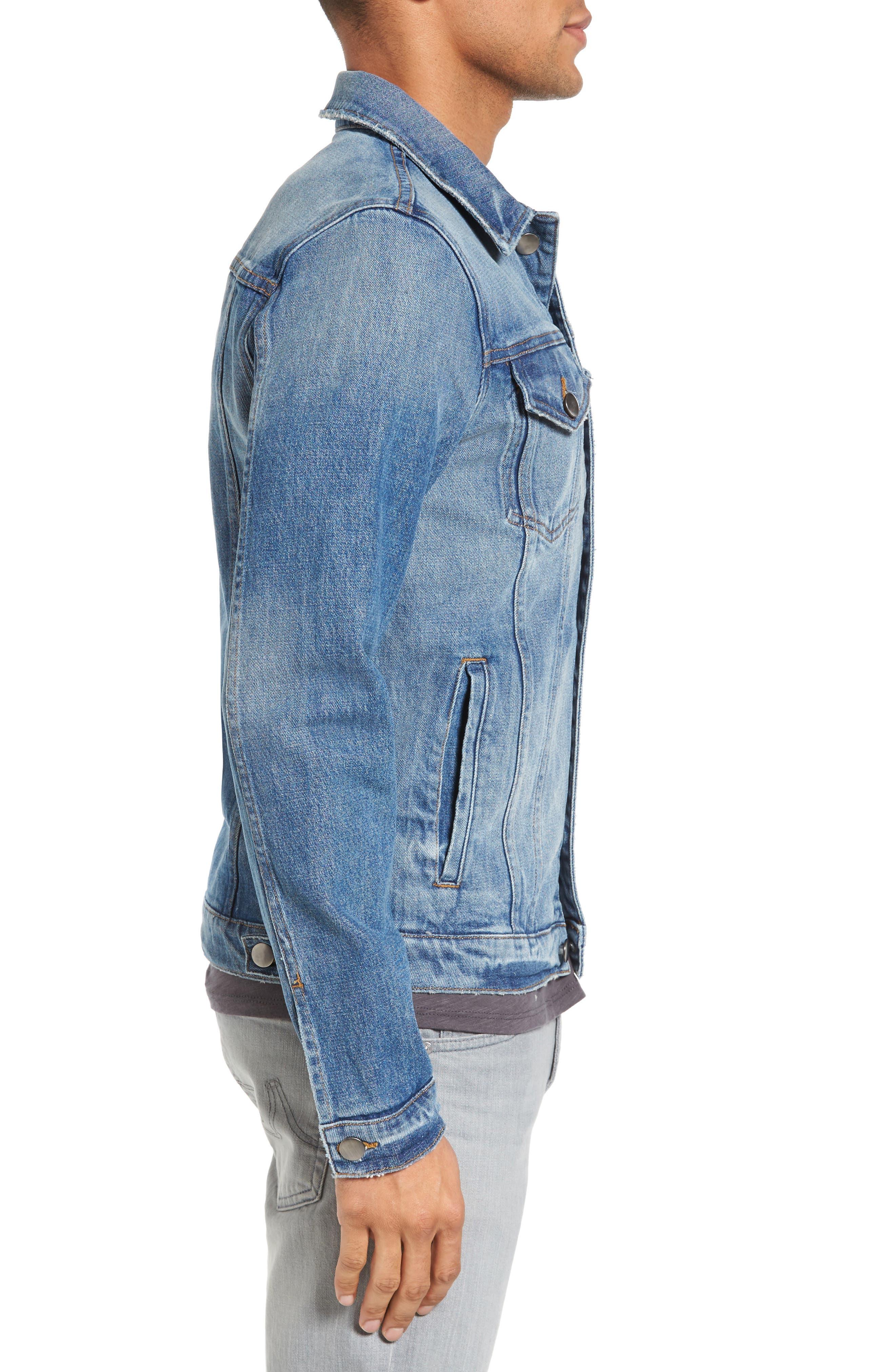 L'Homme Slim Denim Jacket,                             Alternate thumbnail 3, color,                             420