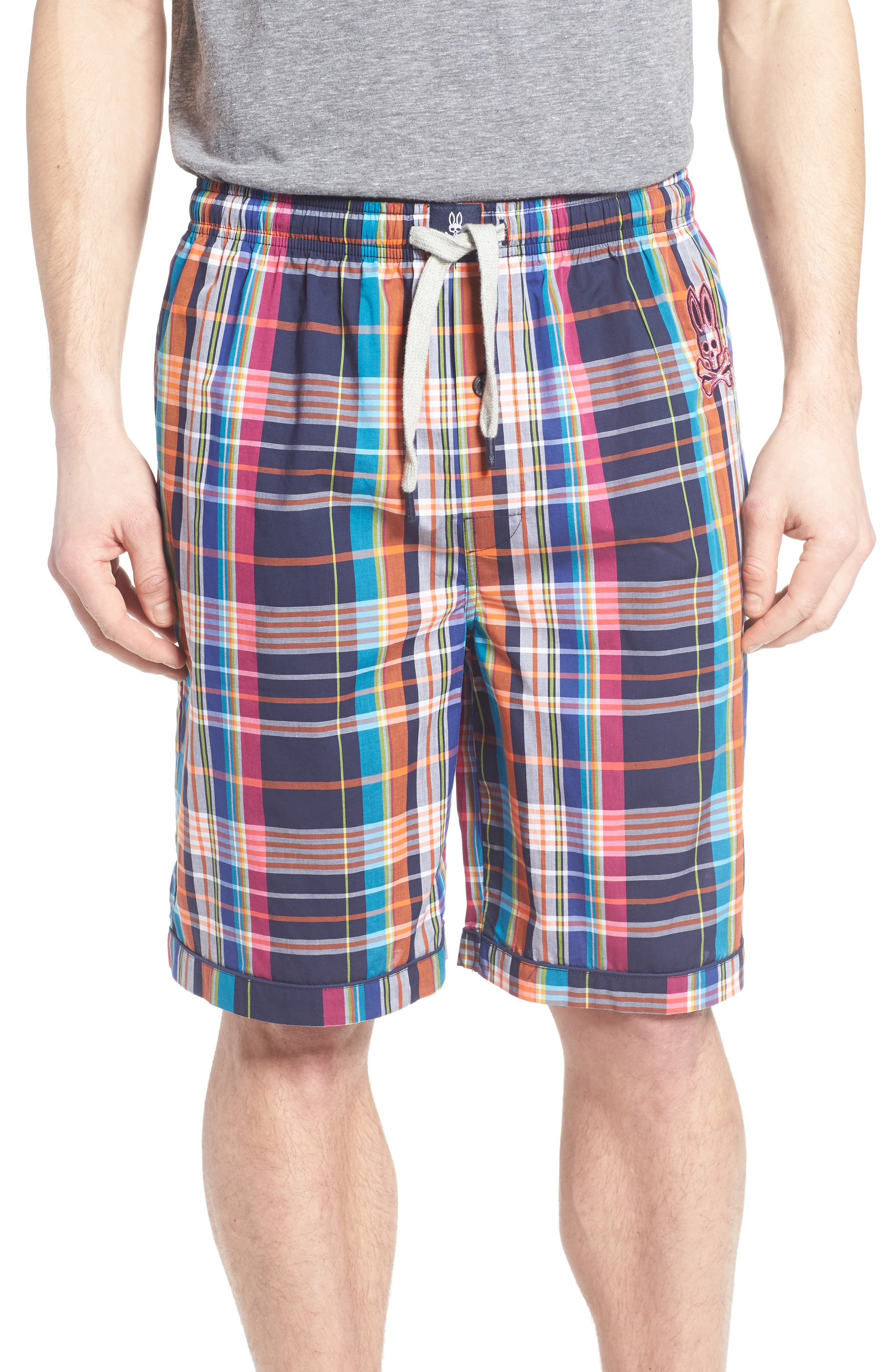 Cotton Lounge Shorts,                         Main,                         color, 001