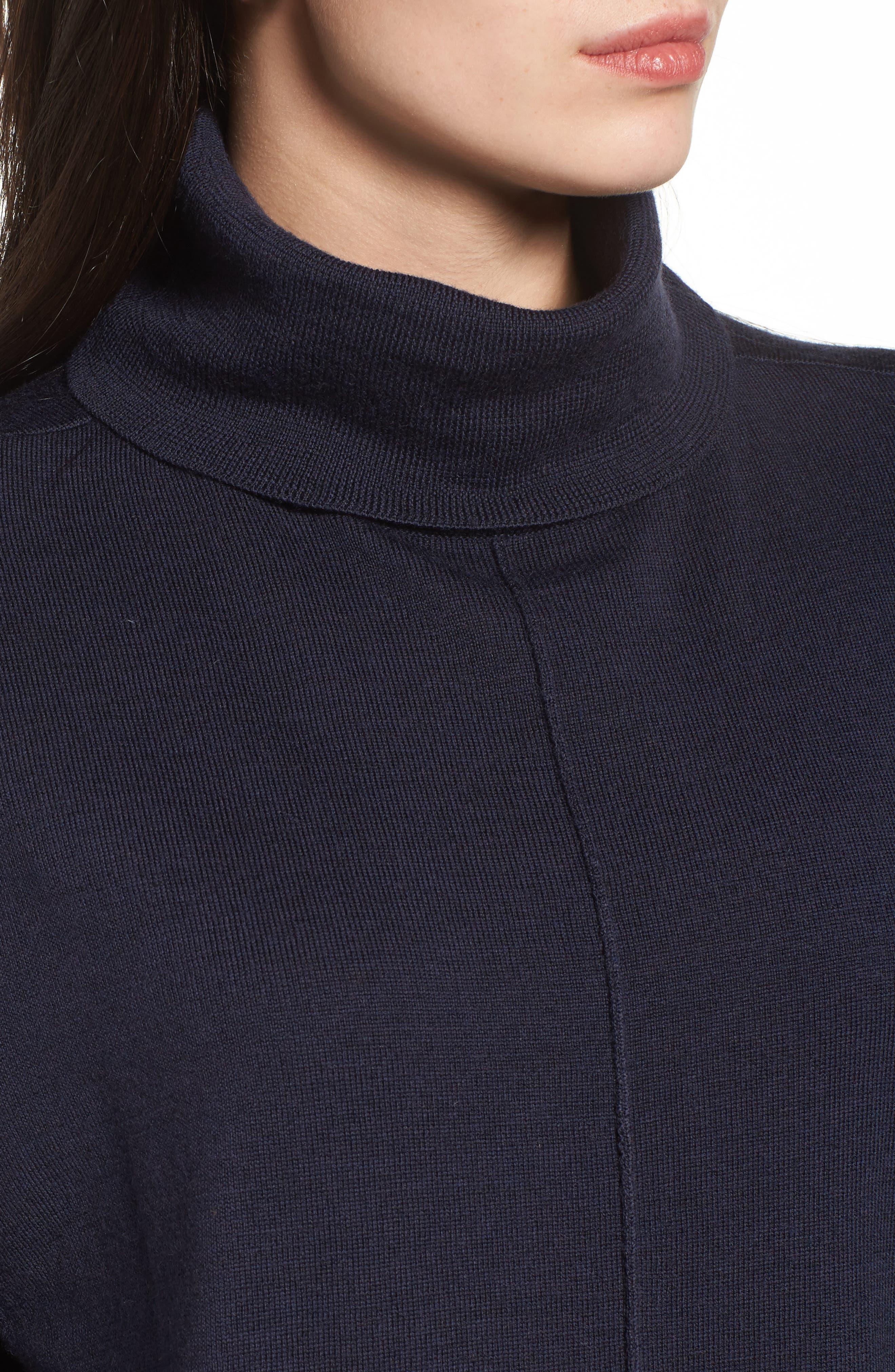 Merino Wool Boxy Turtleneck Sweater,                             Alternate thumbnail 21, color,