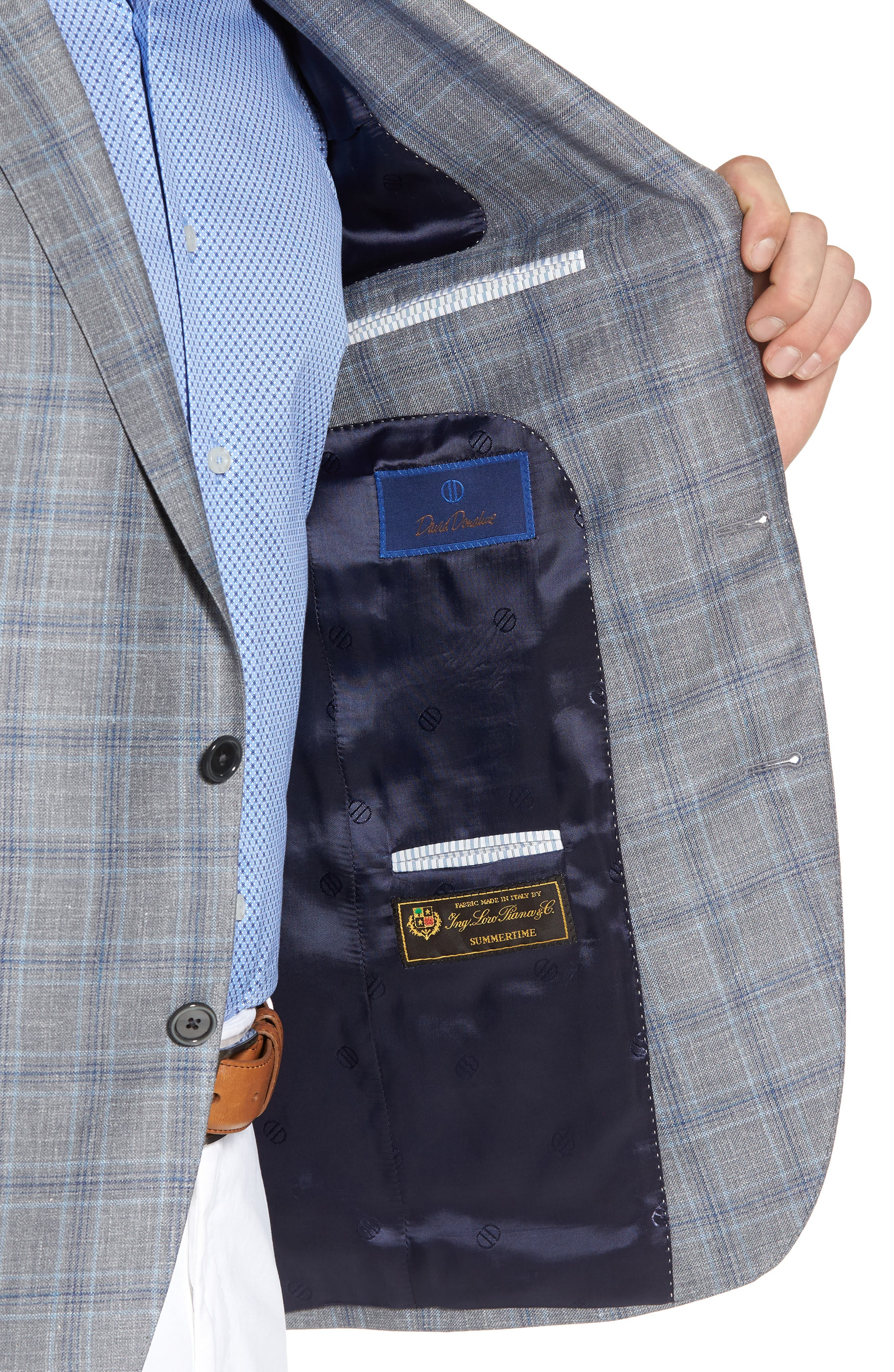 Arnold Classic Fit Plaid Wool Blend Sport Coat,                             Alternate thumbnail 4, color,                             020