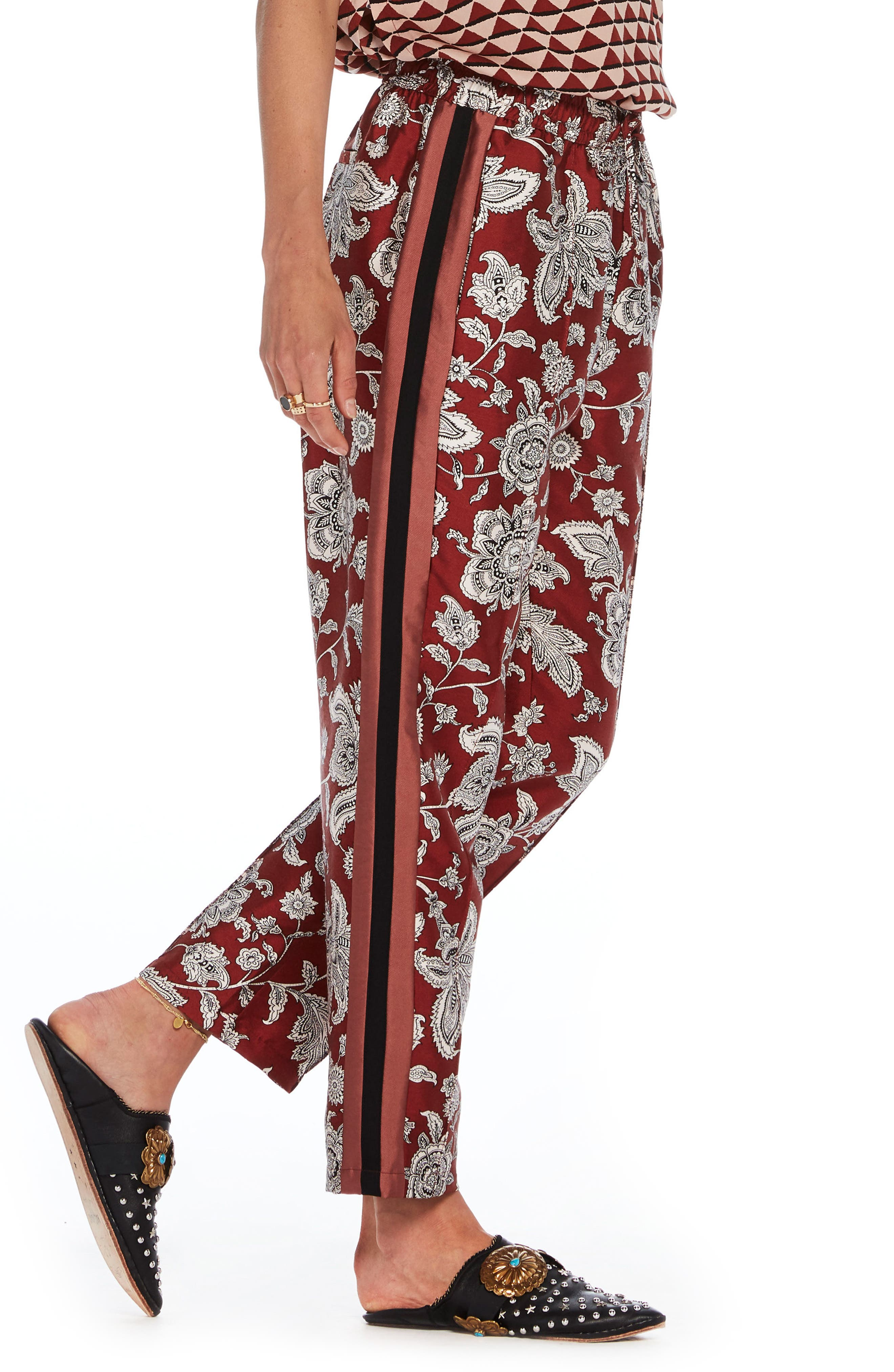 Print Satin Pants,                             Alternate thumbnail 3, color,