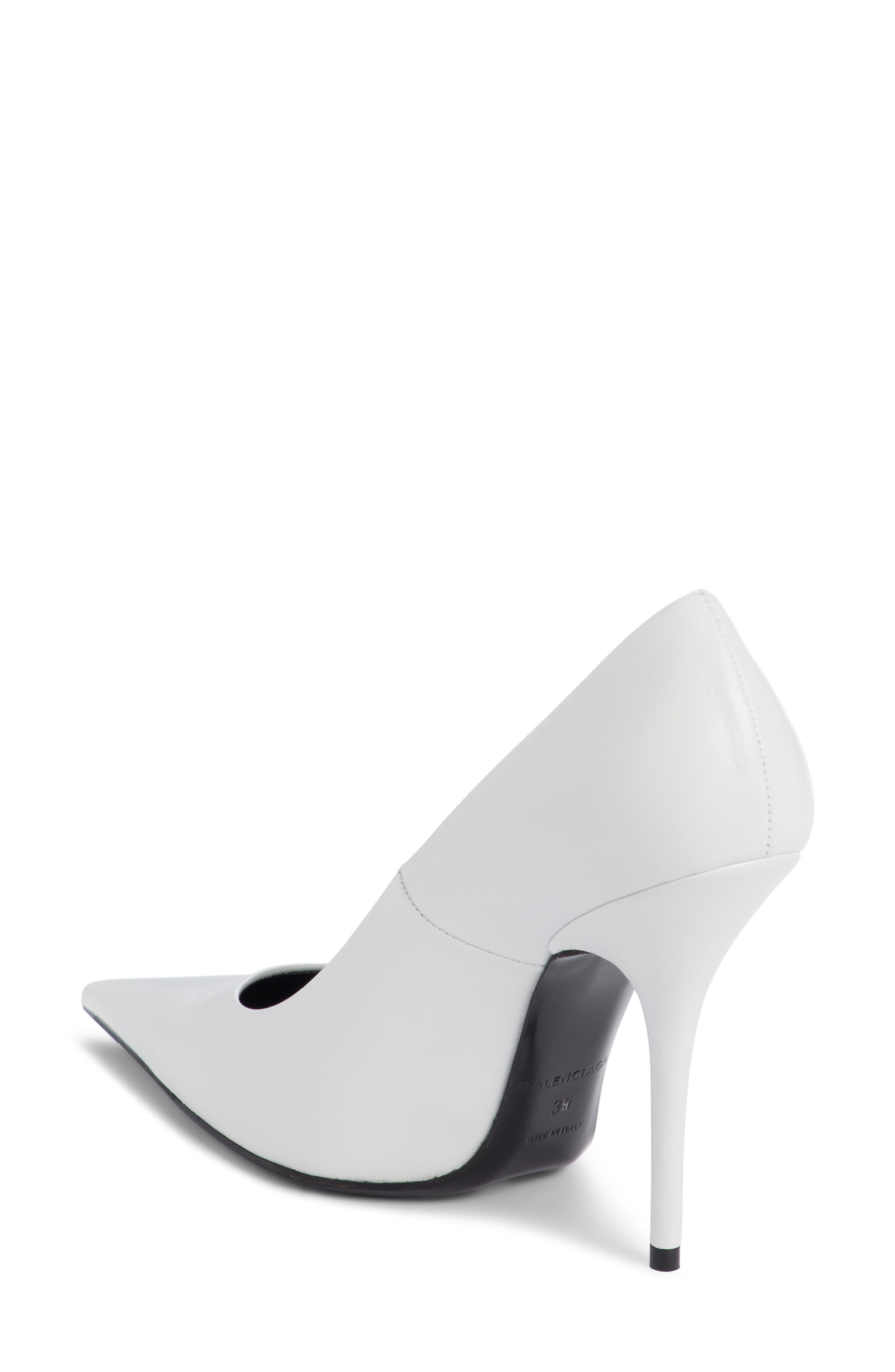 Pointy Toe Pump,                             Alternate thumbnail 2, color,                             WHITE