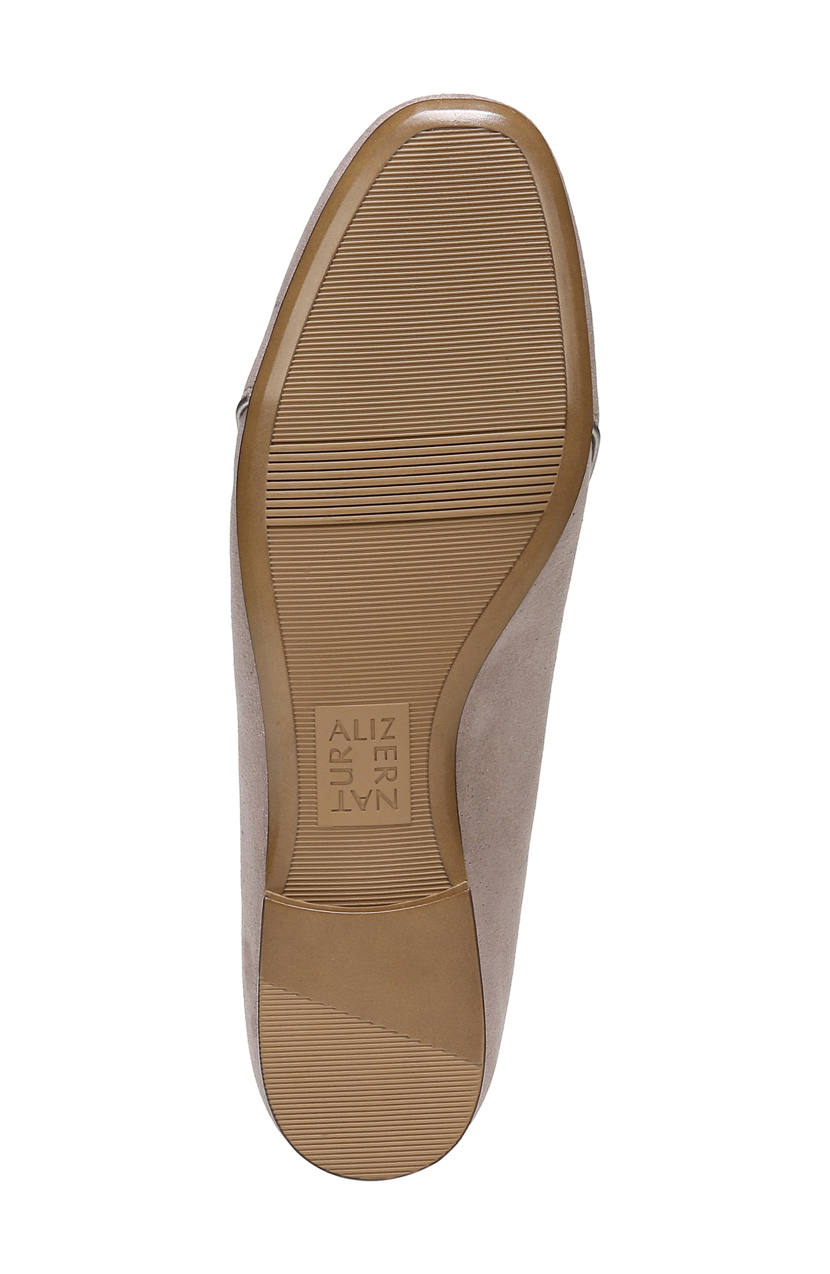 Emiline 2 Loafer,                             Alternate thumbnail 6, color,                             TAUPE GLITTER DUST SUEDE