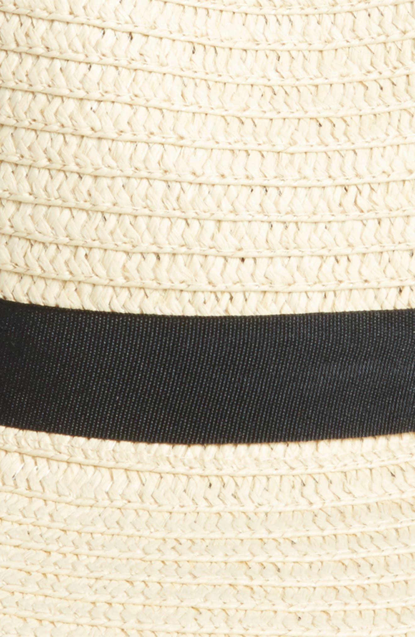 Pompom Straw Fedora,                             Alternate thumbnail 2, color,                             250