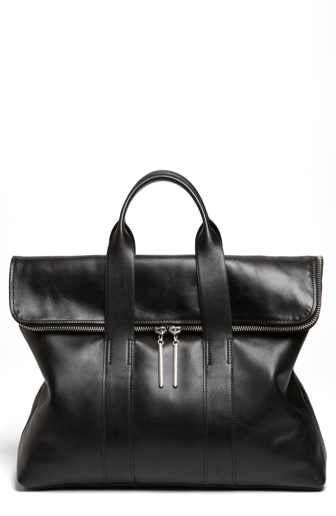 '31 Hour' Leather Tote,                         Main,                         color, 001