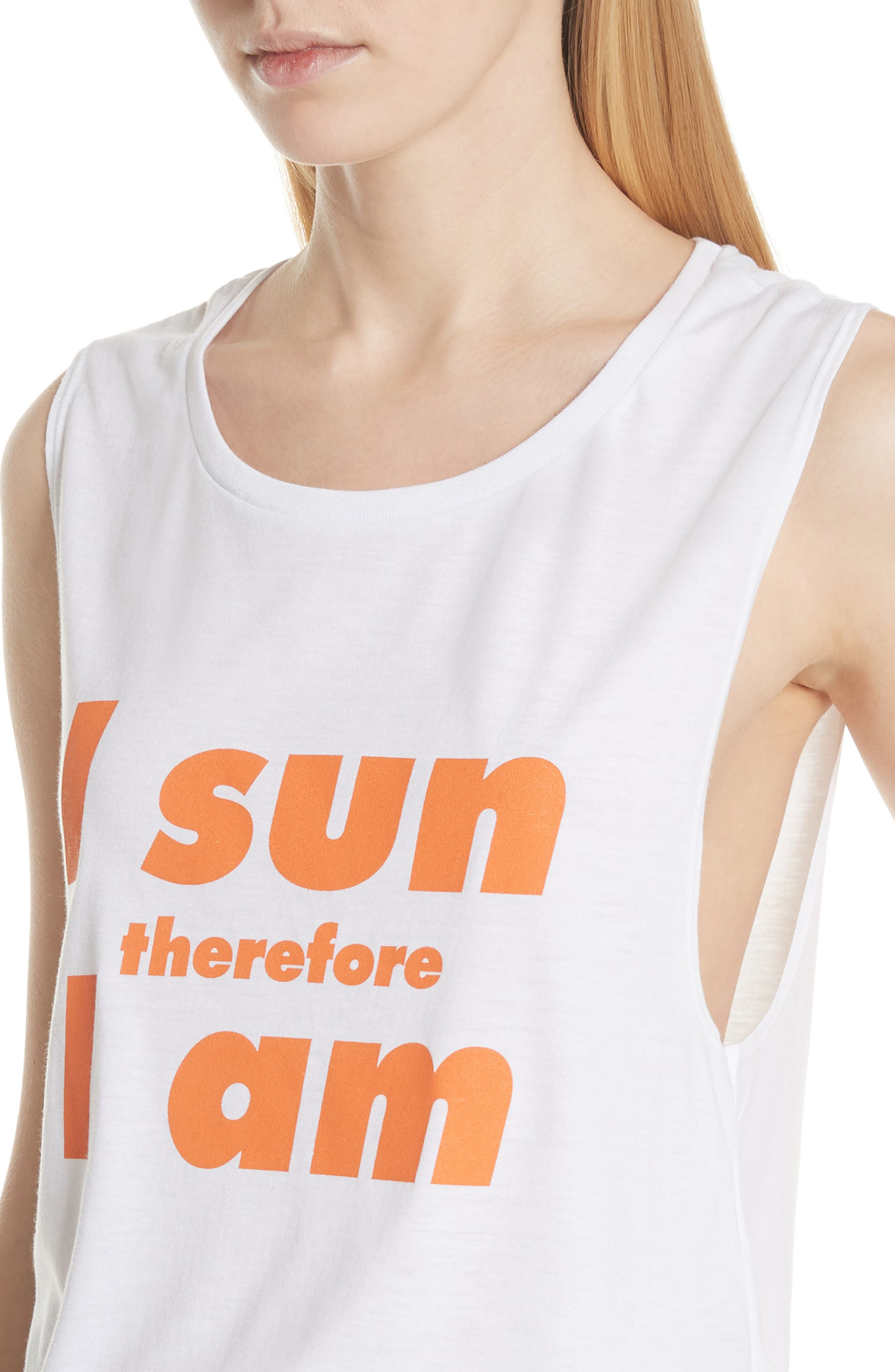 PARADISED,                             I Sun Graphic Muscle Tank,                             Alternate thumbnail 4, color,                             100
