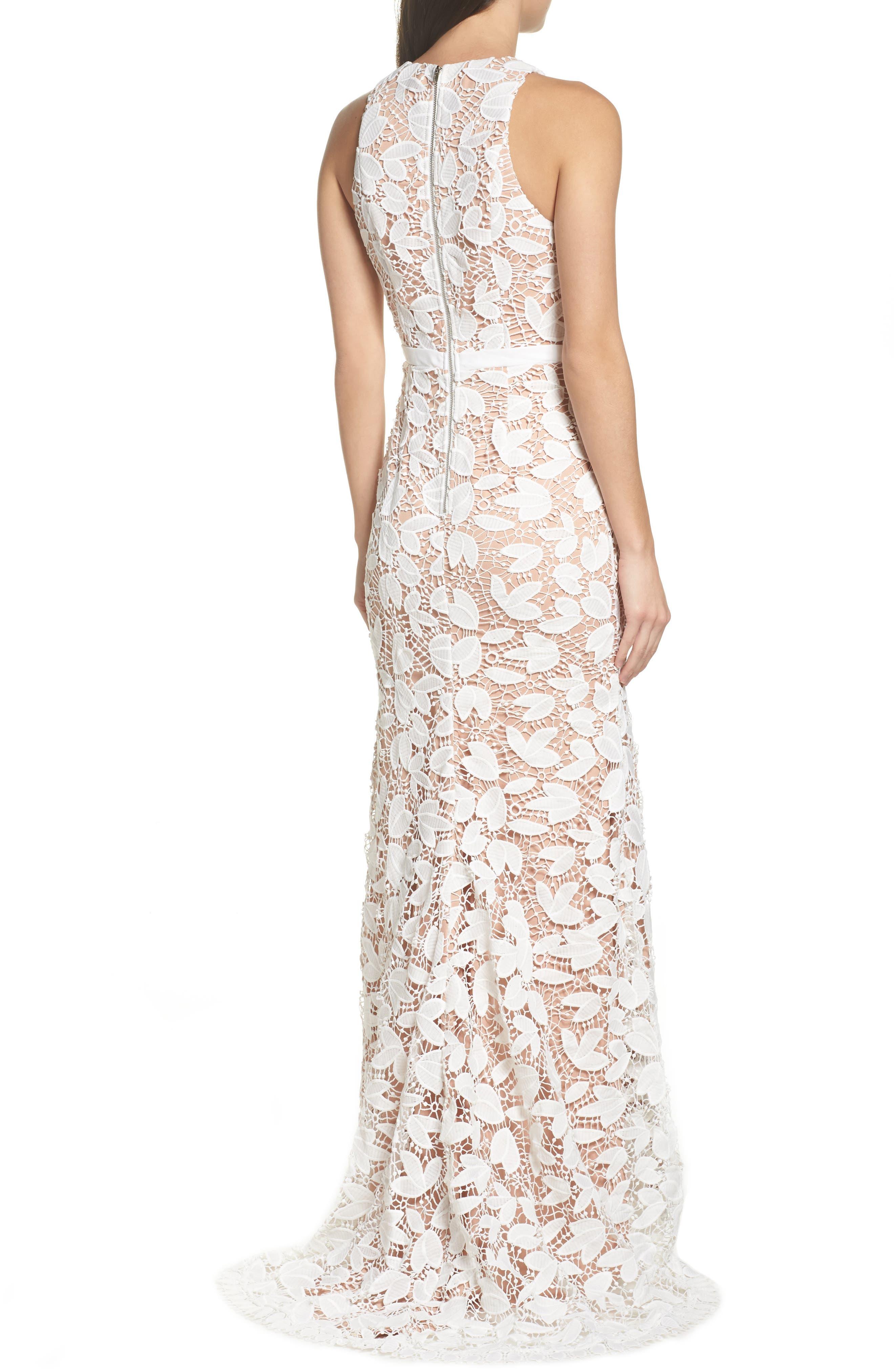 Petal Lace Gown,                             Alternate thumbnail 2, color,                             IVORY