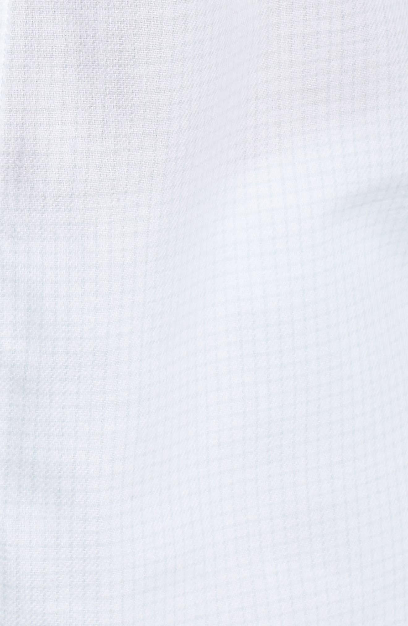 Raven Plaid Pajamas,                             Alternate thumbnail 5, color,                             WHITE / SKY BLUE CHECK