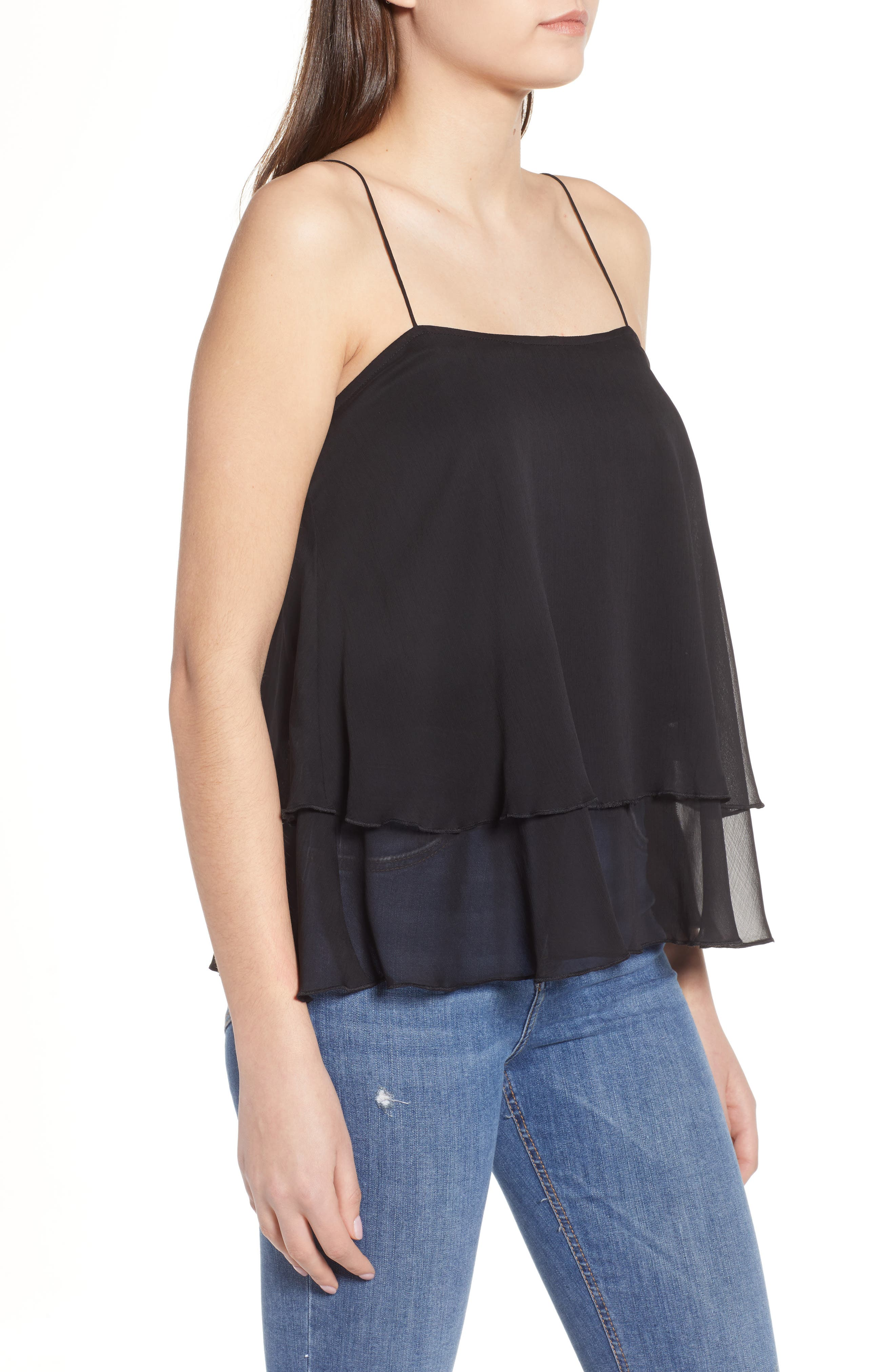 Tiered Chiffon Camisole,                             Alternate thumbnail 8, color,