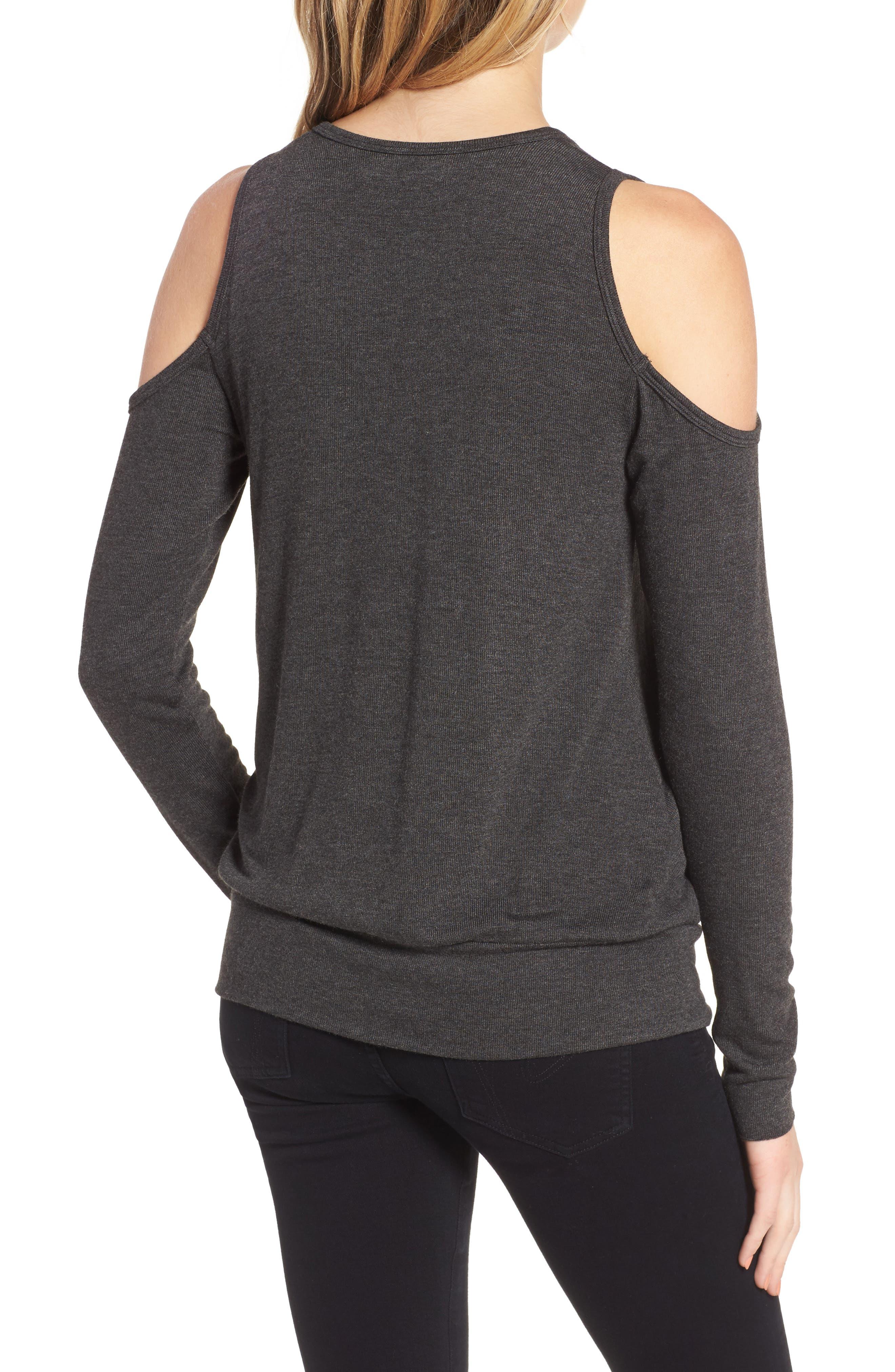 Big Hit Cold Shoulder Sweater,                             Alternate thumbnail 2, color,