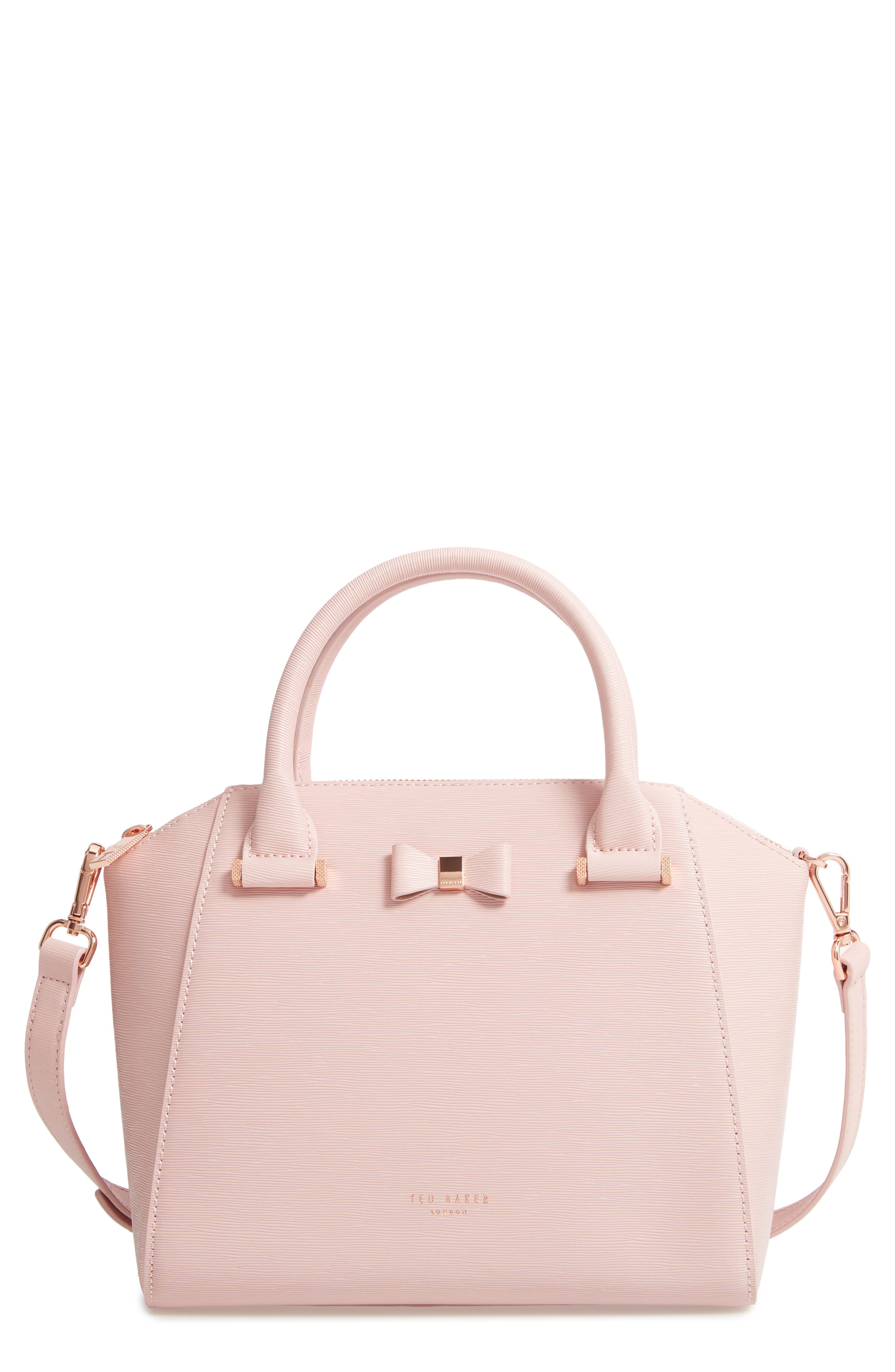 Bow Tote,                         Main,                         color, LIGHT PINK