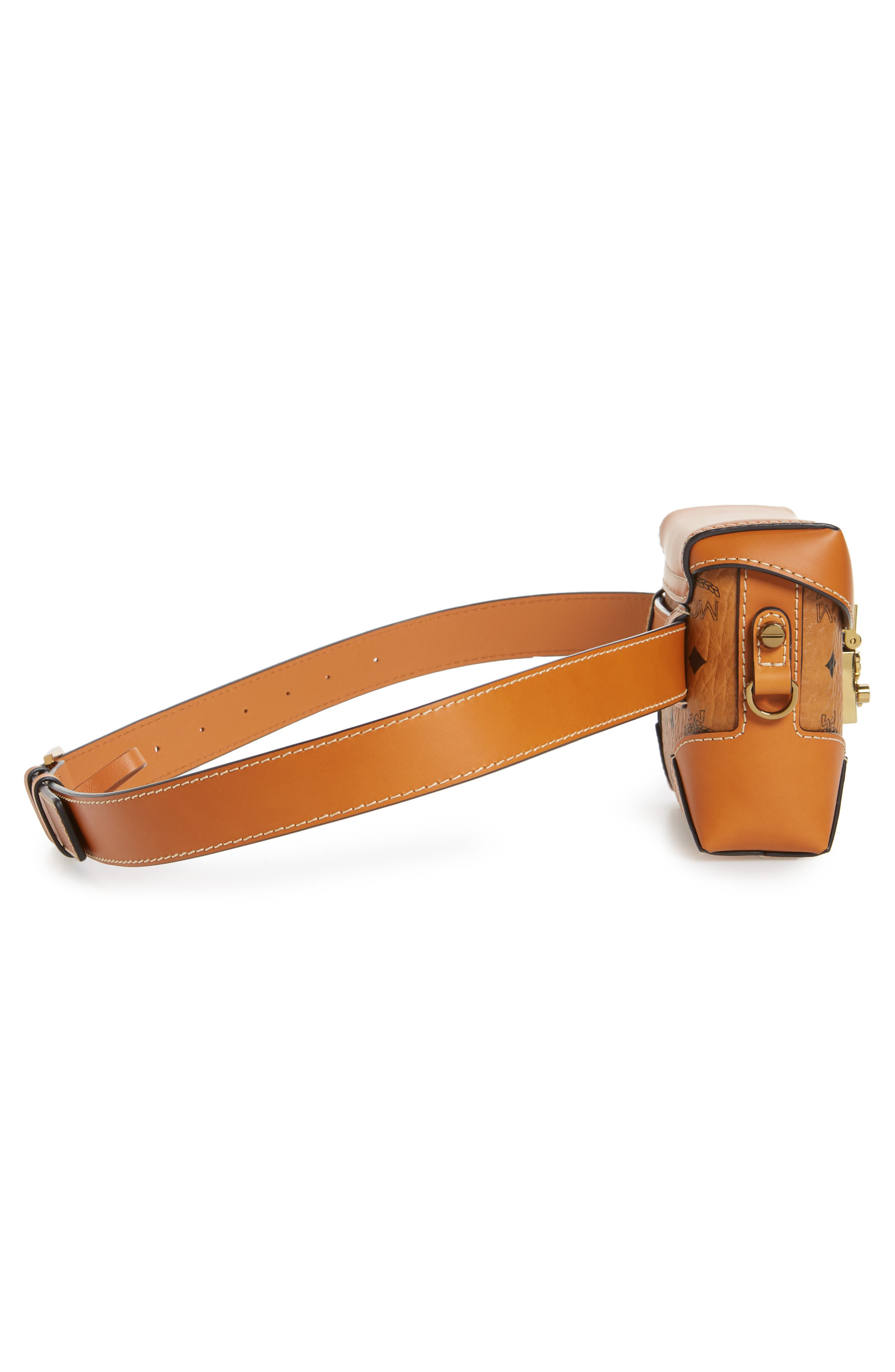 Small Berlin Canvas & Leather Belt Bag,                             Alternate thumbnail 7, color,                             200